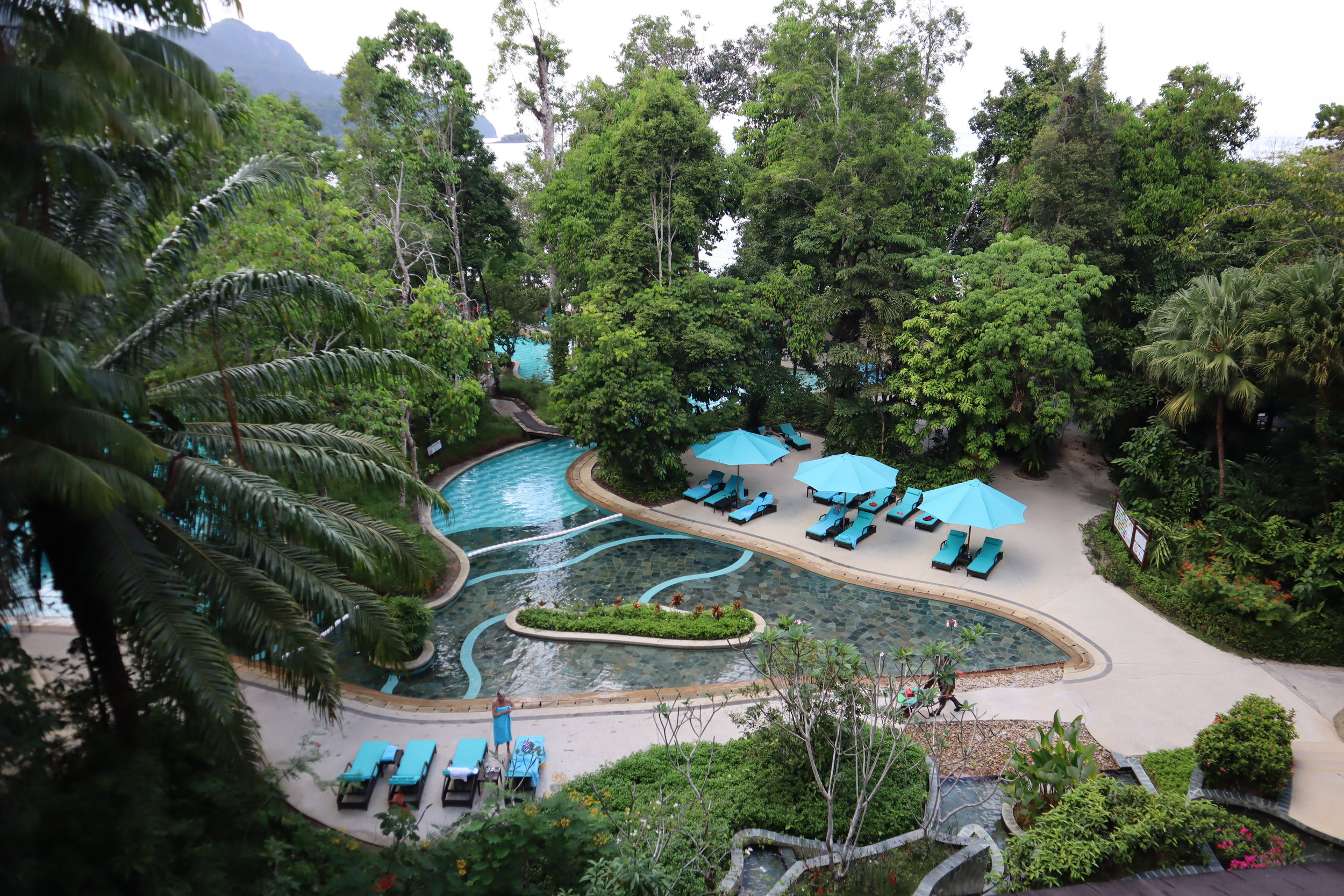 The Andaman Langkawi – View of resort from Jentayu Lounge