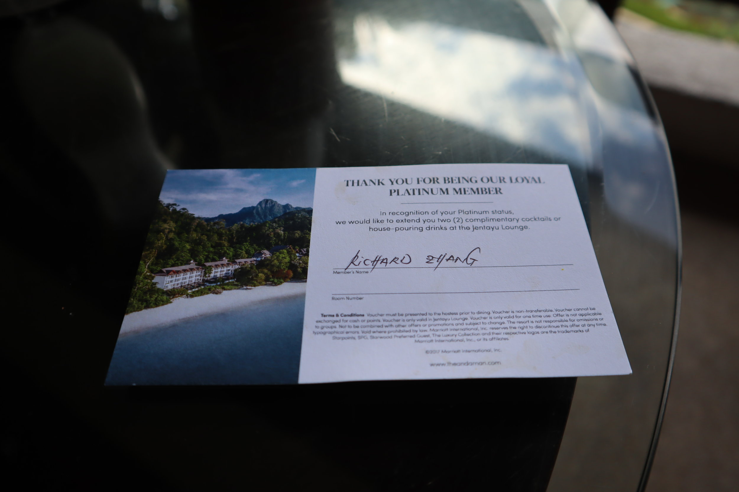The Andaman Langkawi – Platinum complimentary drinks