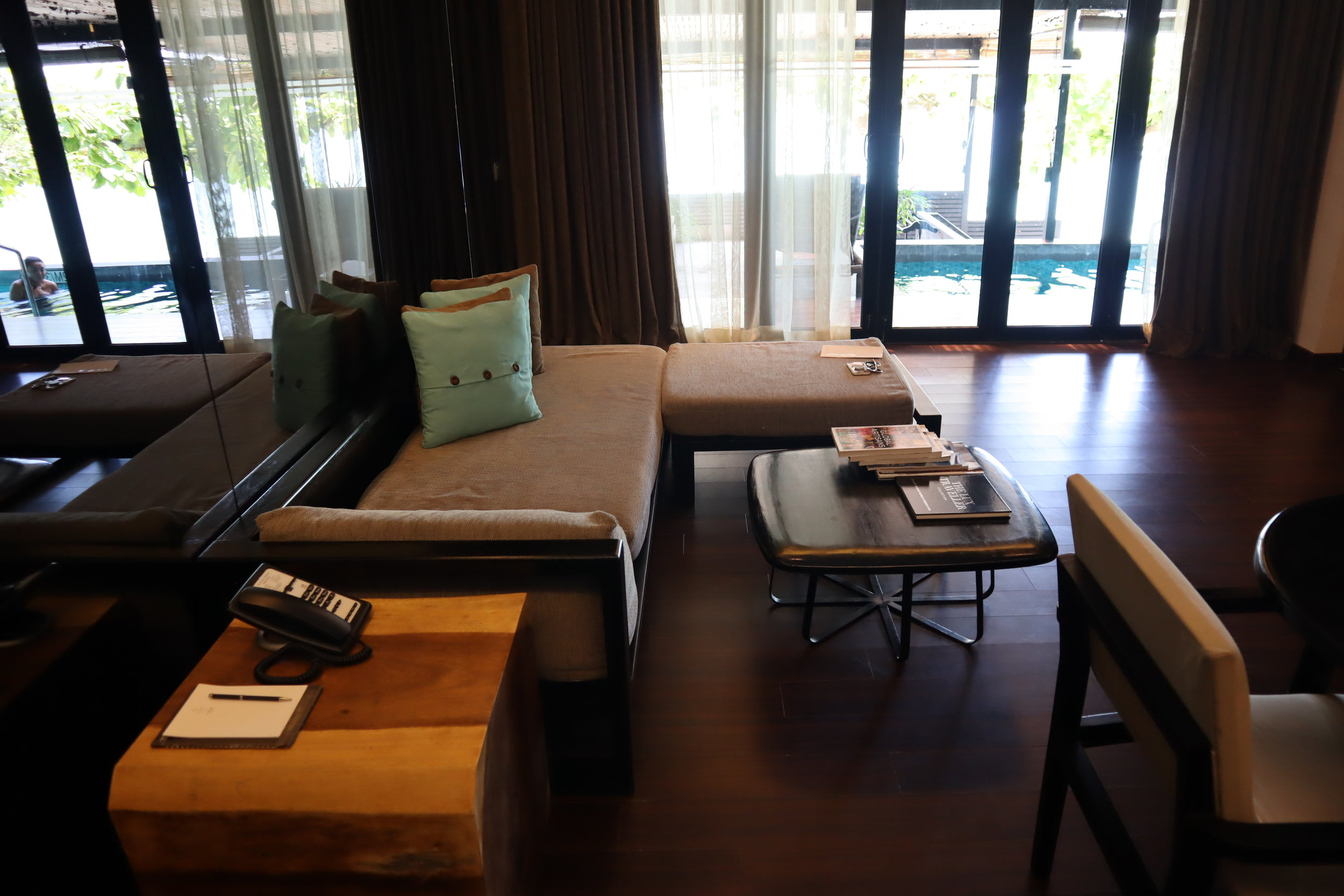 The Andaman Langkawi – Executive Pool Suite sitting area