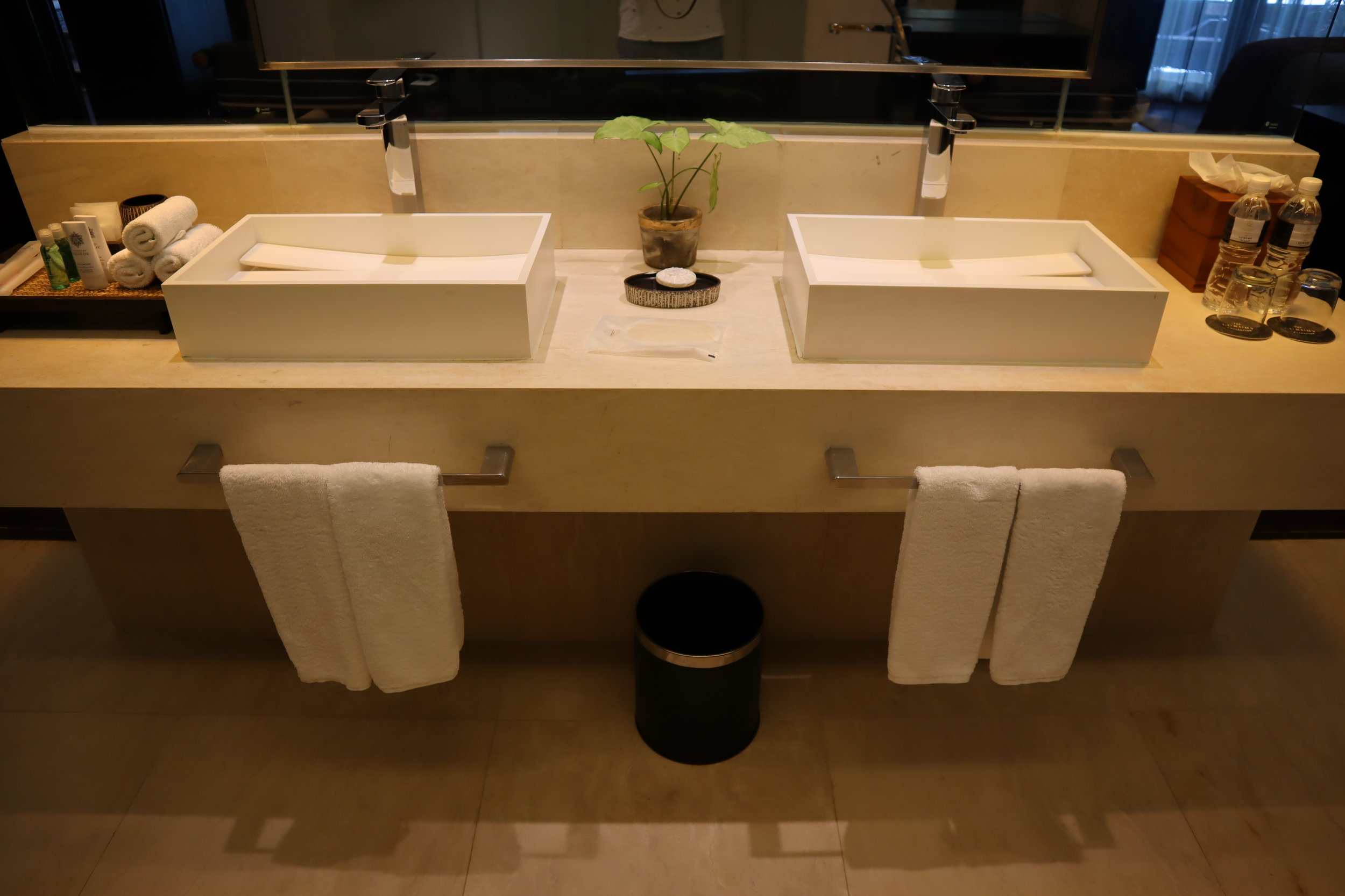 The Andaman Langkawi – Executive Pool Suite sink and mirror