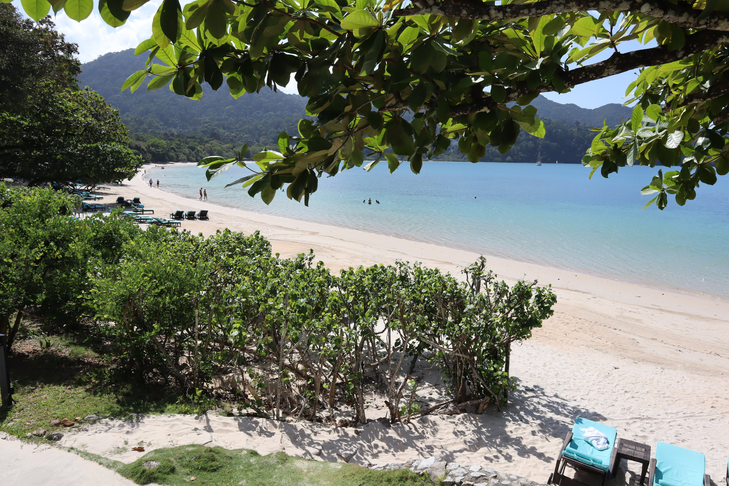 The Andaman Langkawi – View of beach from patio