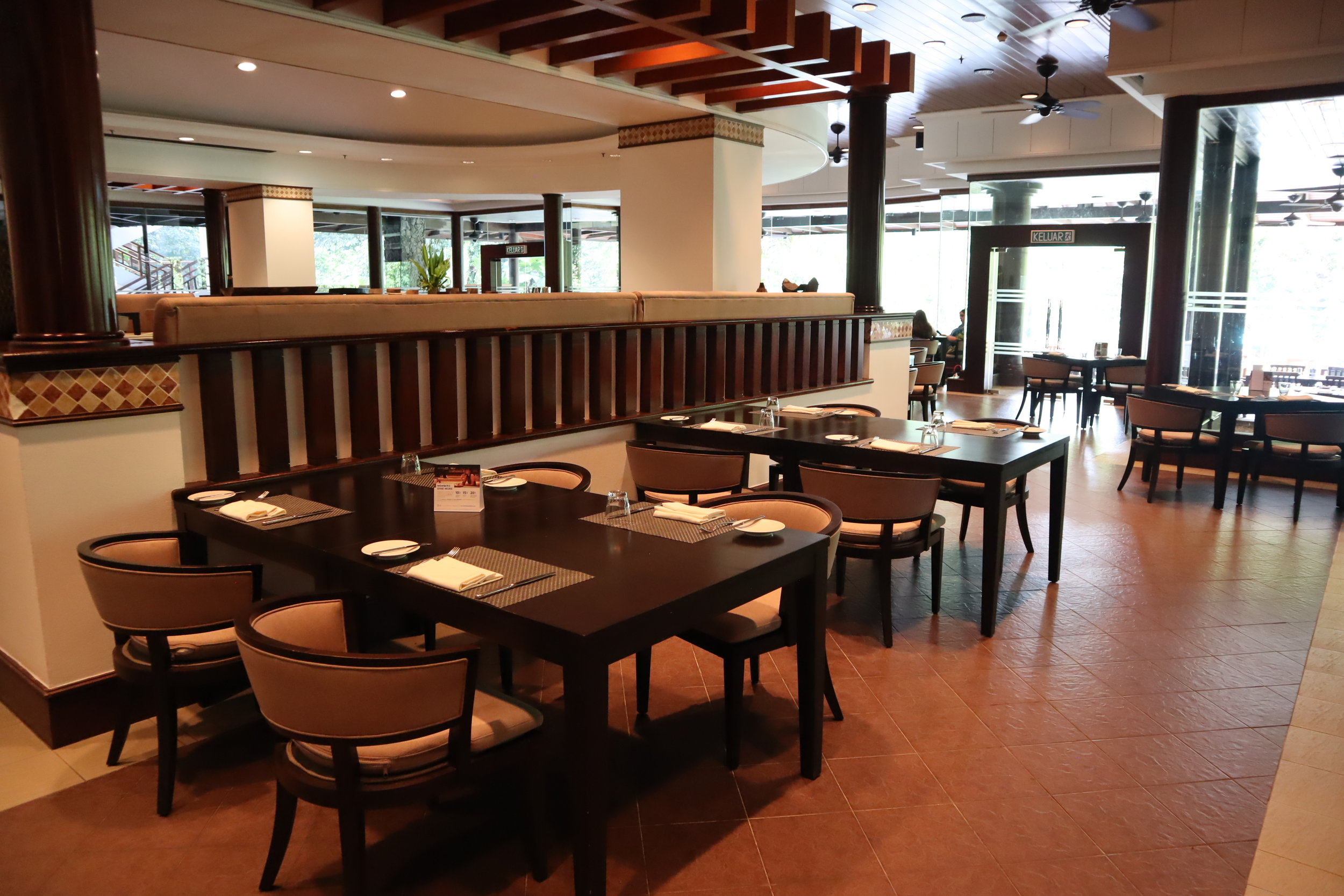 The Andaman Langkawi – The Restaurant seating