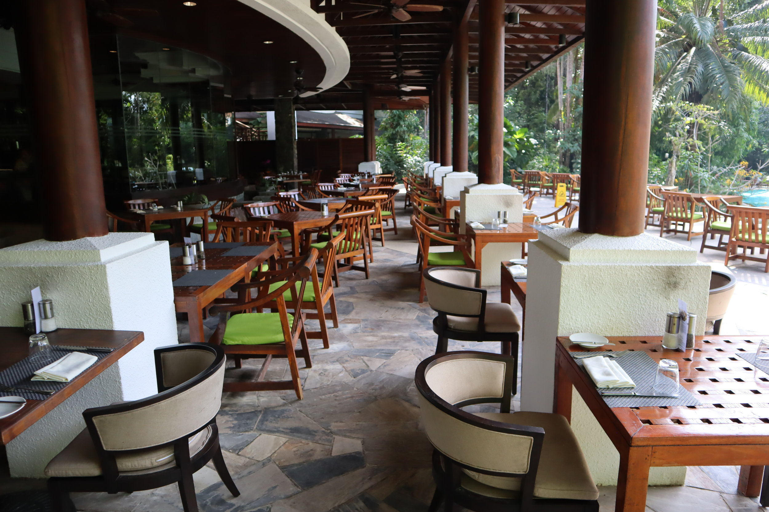 The Andaman Langkawi – The Restaurant outdoor seating