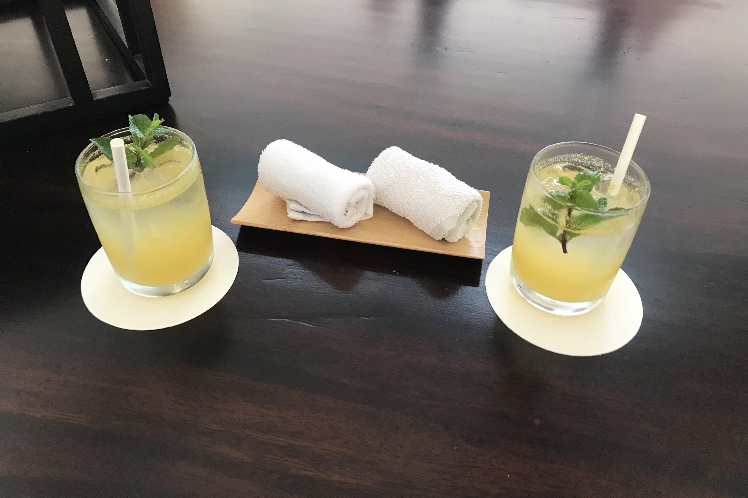 St. Regis Bali – Welcome drinks