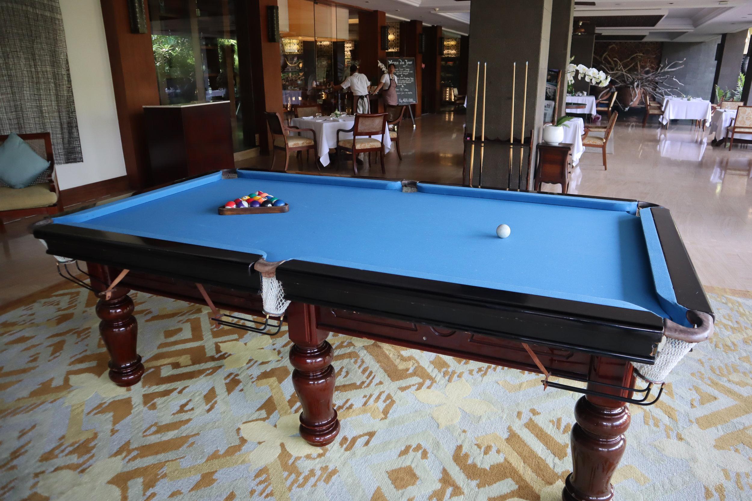 St. Regis Bali – Pool table