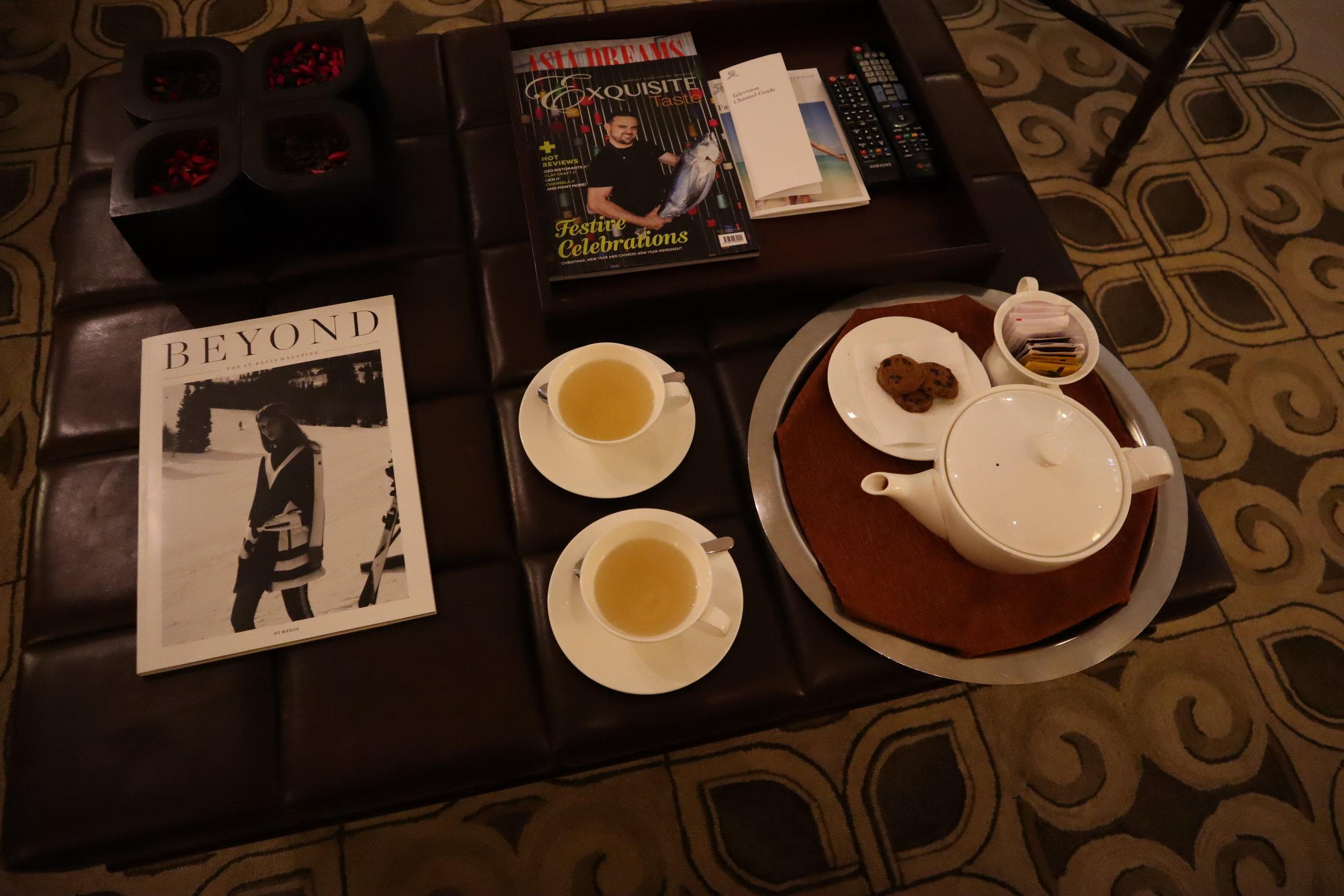 St. Regis Bali – Tea via butler service