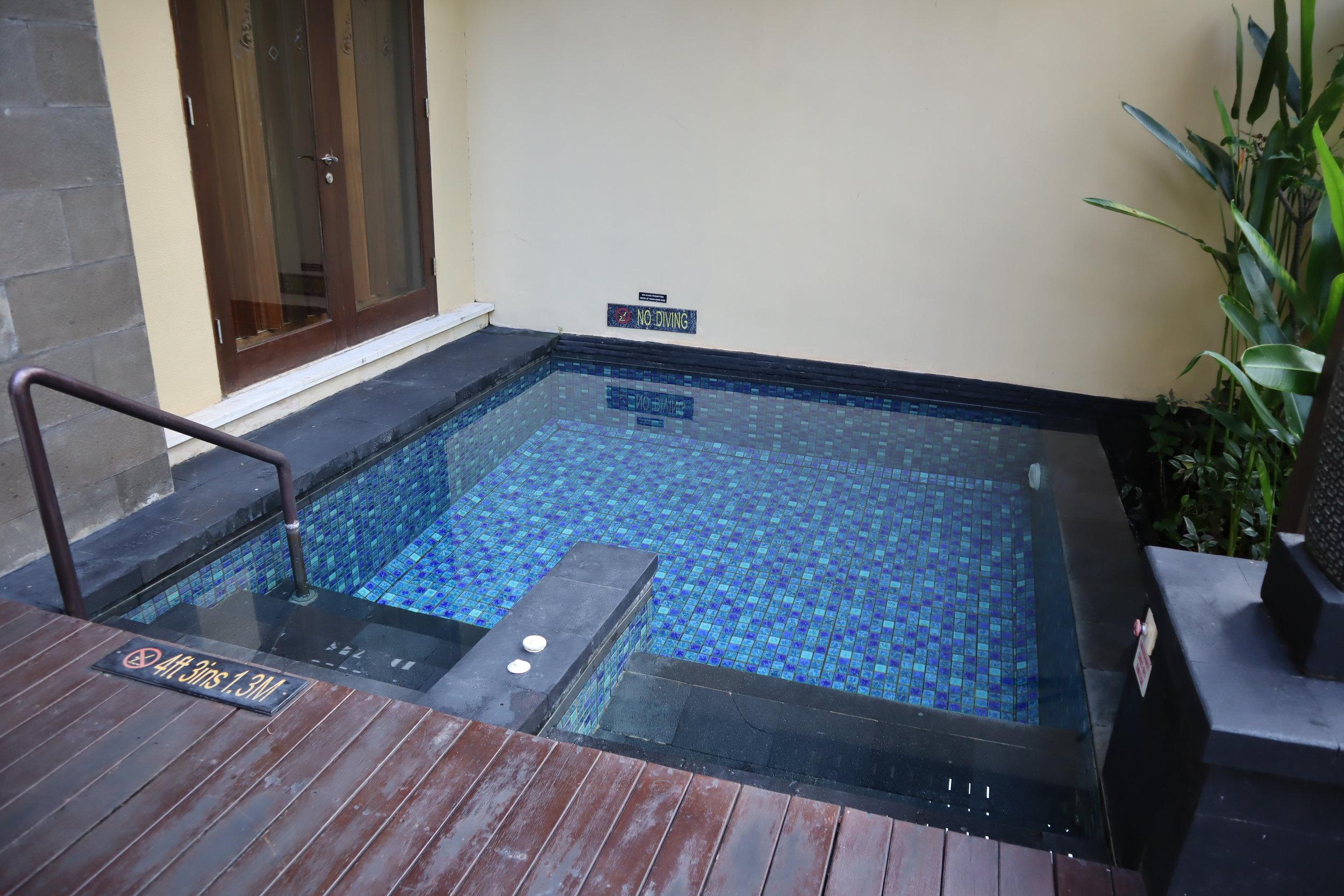 St. Regis Bali – St. Regis Pool Suite plunge pool