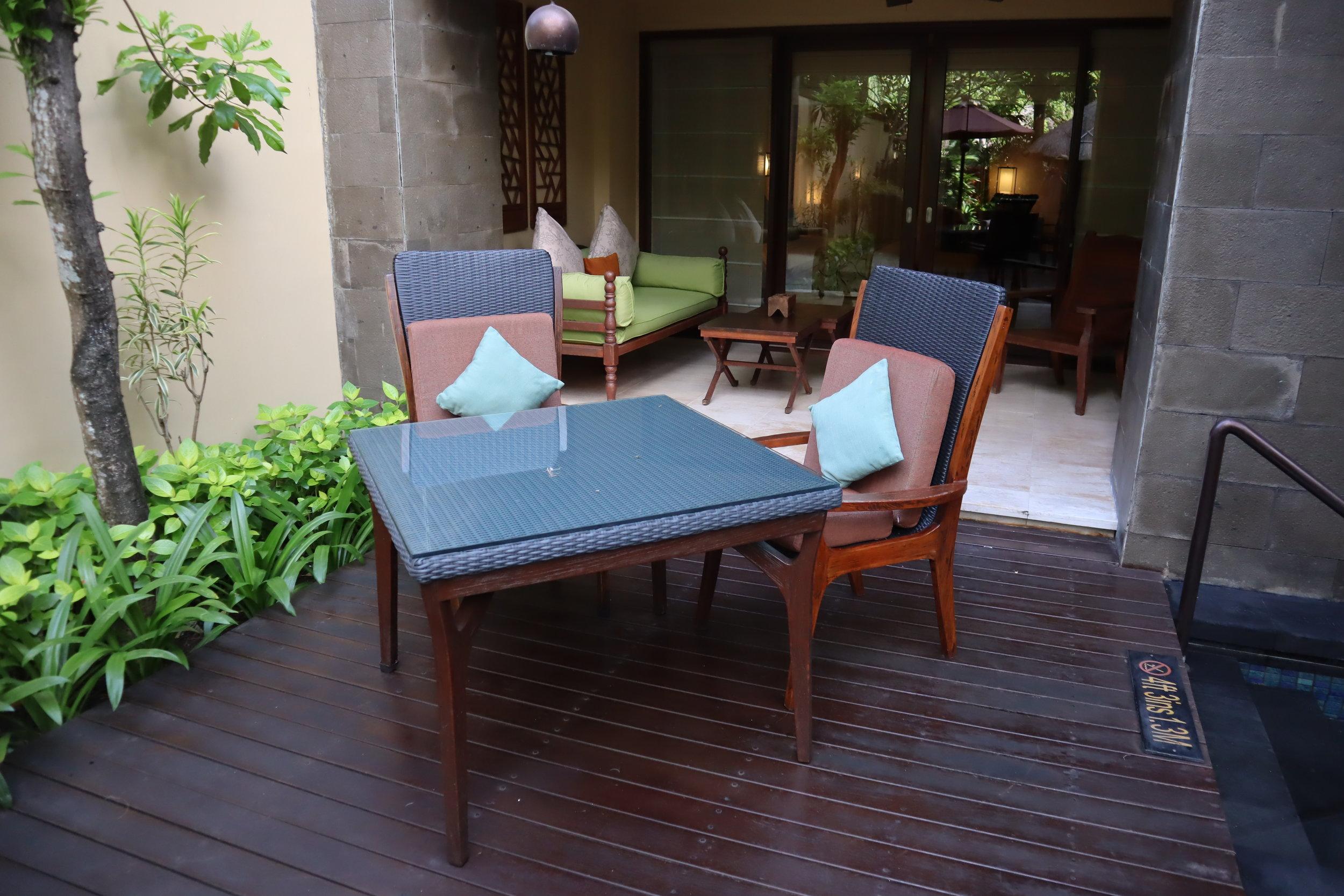 St. Regis Bali – St. Regis Pool Suite back porch