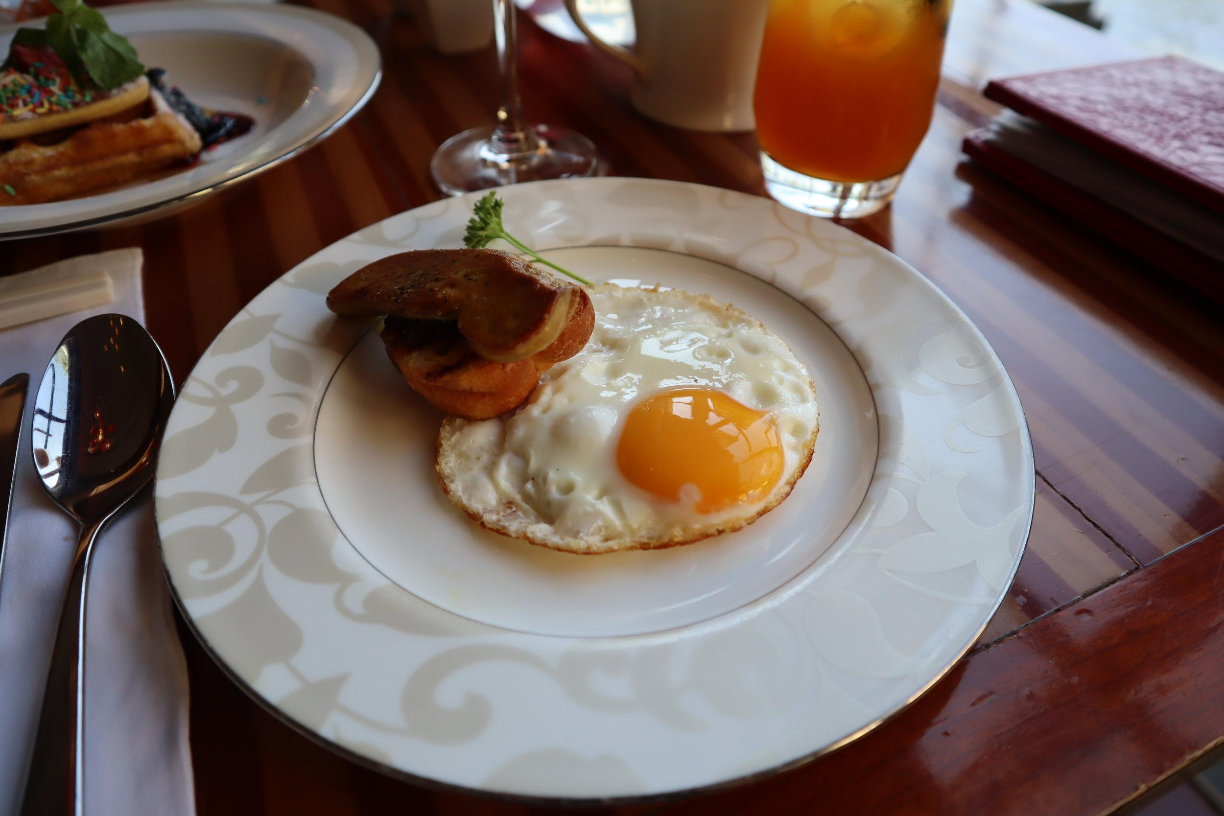 St. Regis Bali – Foie gras with eggs