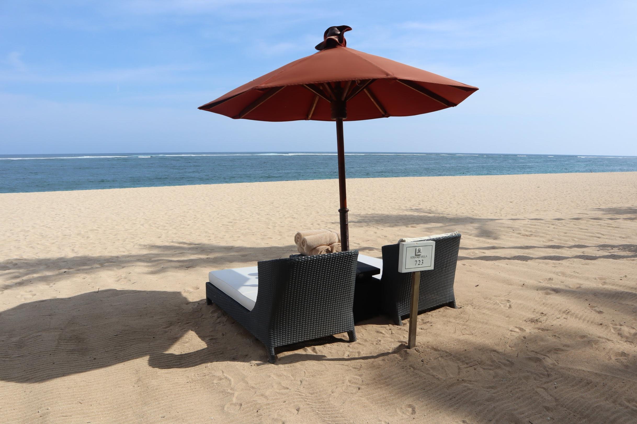 St. Regis Bali – Beach Villa private beach chairs