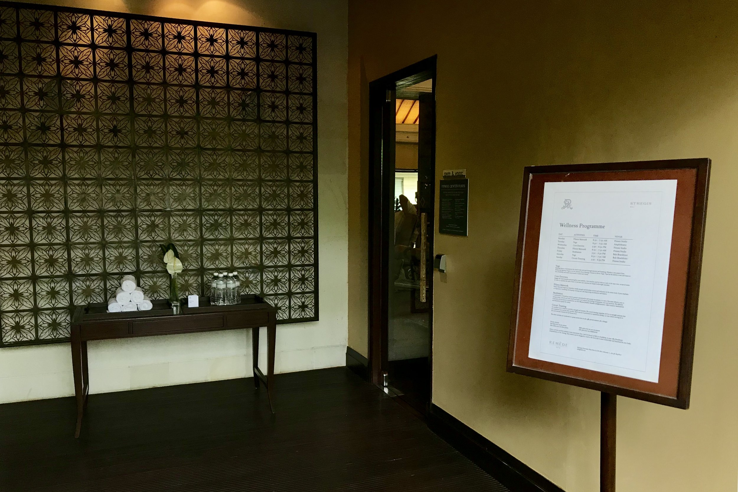 St. Regis Bali – Fitness centre