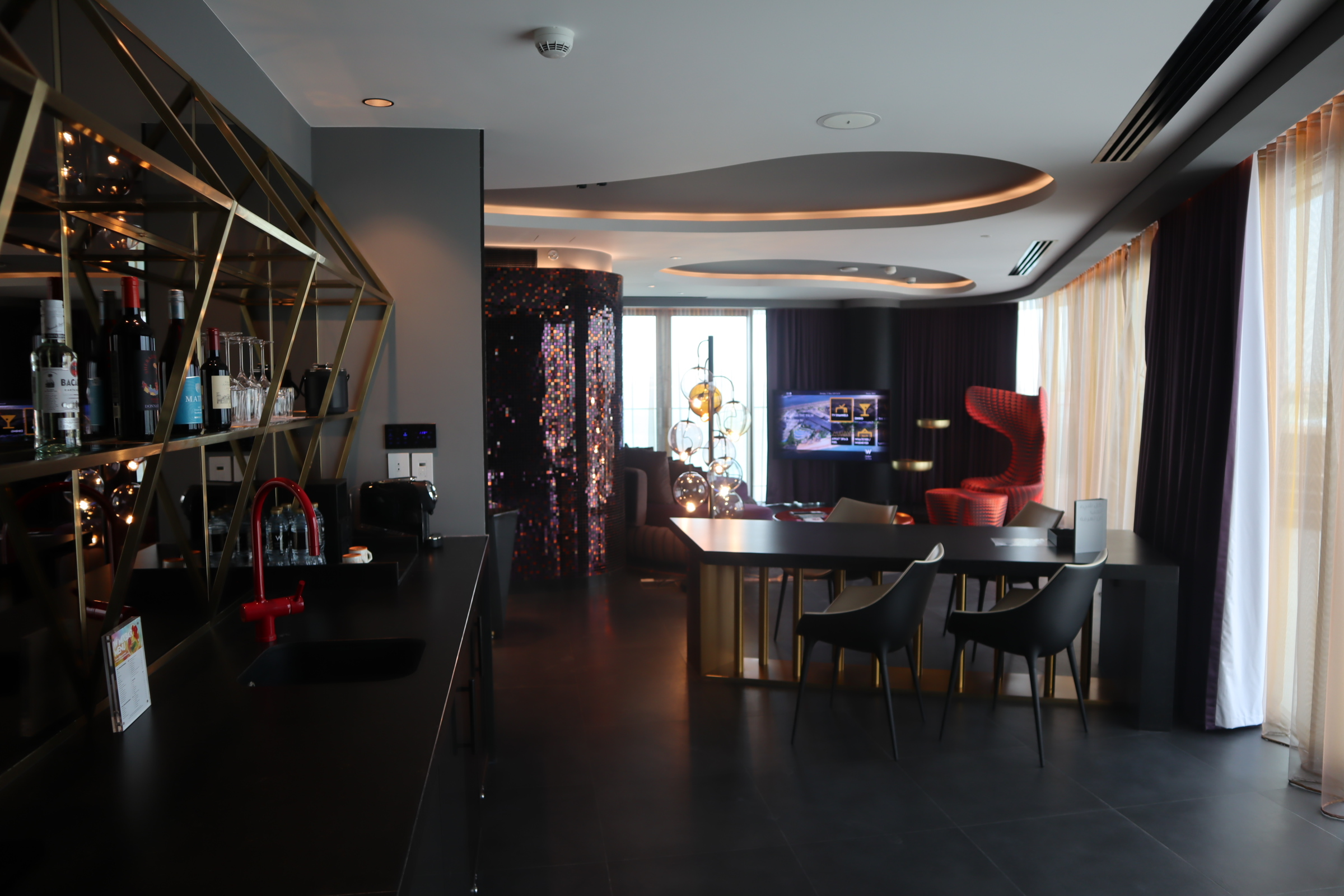 Marvelous Suite dining room, W Dubai The Palm