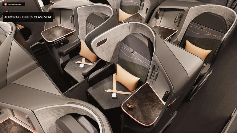 Turkish Airlines 787 business class