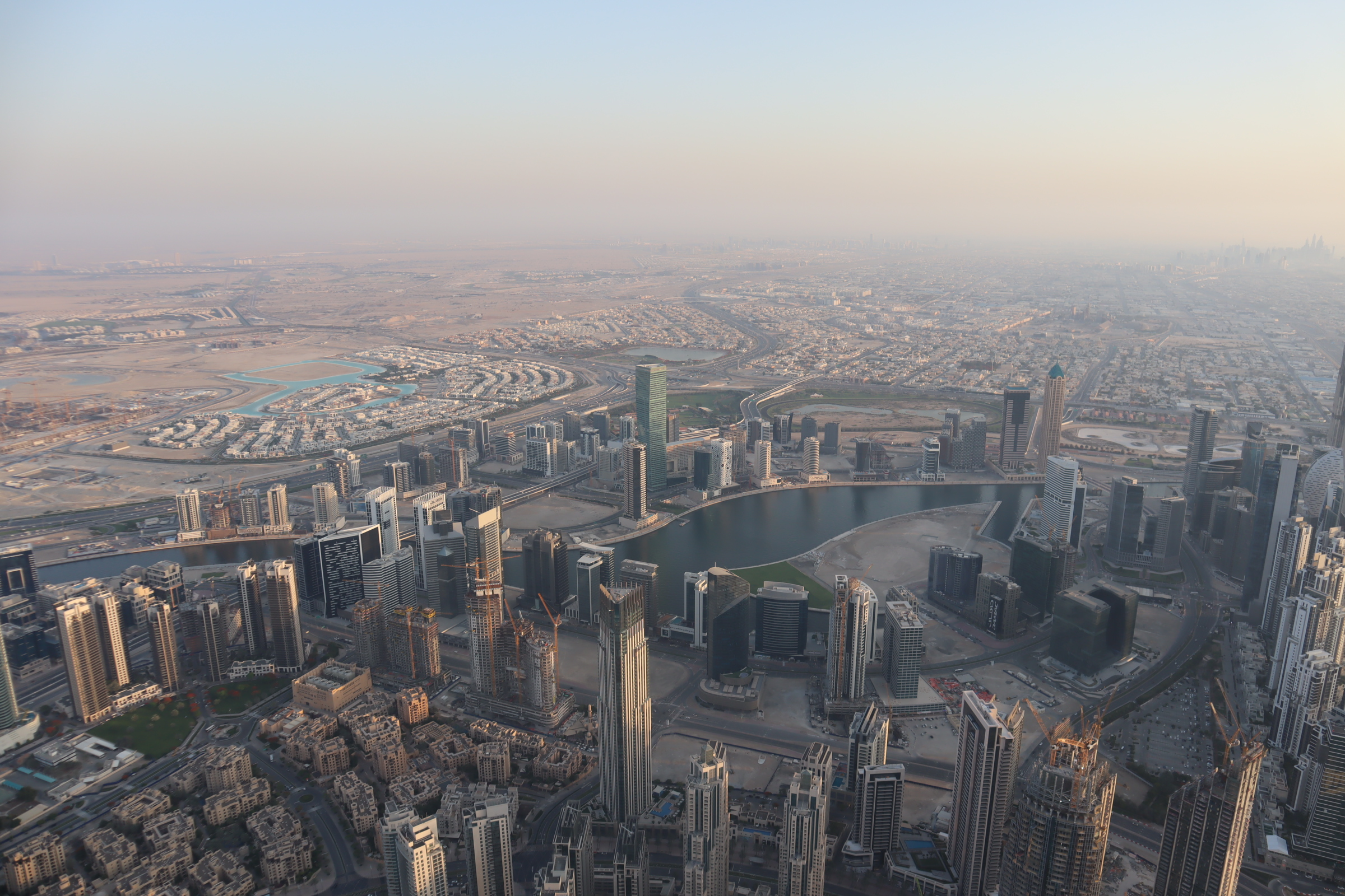 Views from the 148th floor of the Burj Khalifa