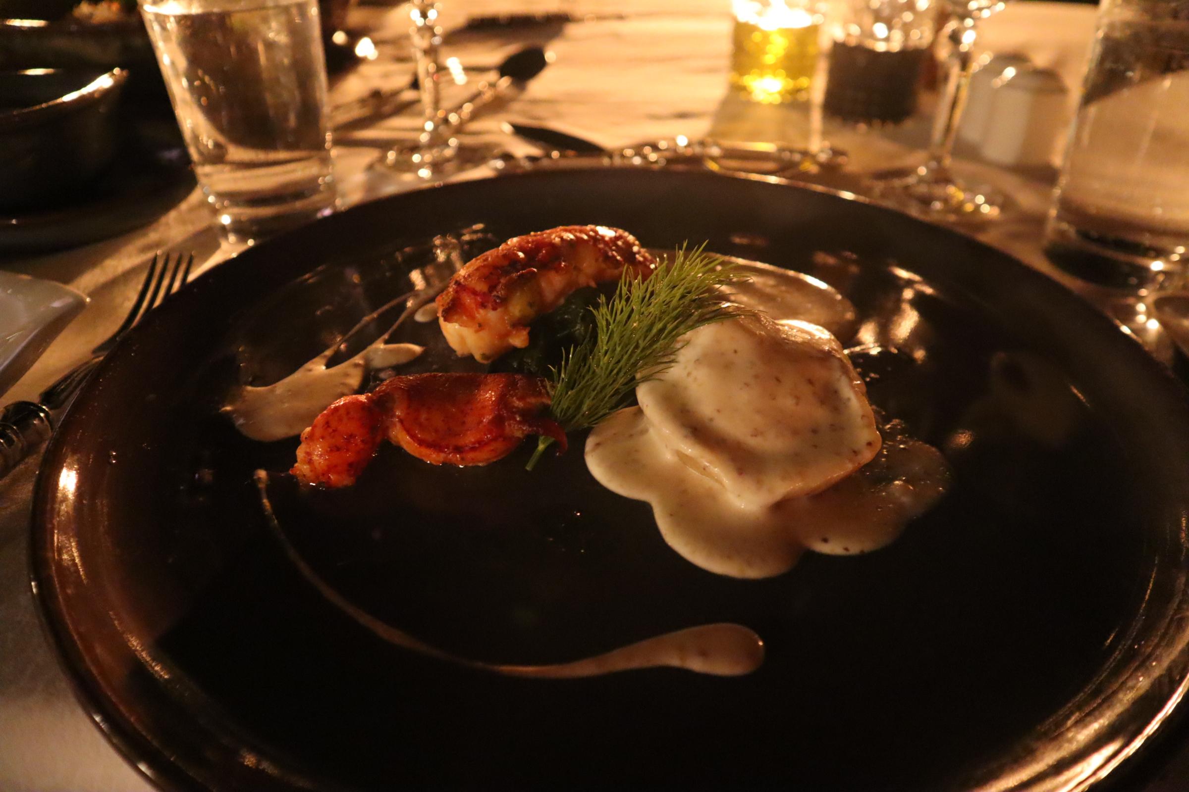 Grilled lobster for dinner at Al Maha