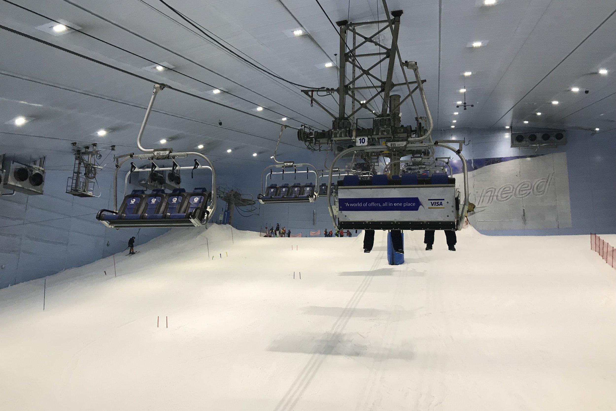 Hitting the slopes at Ski Dubai
