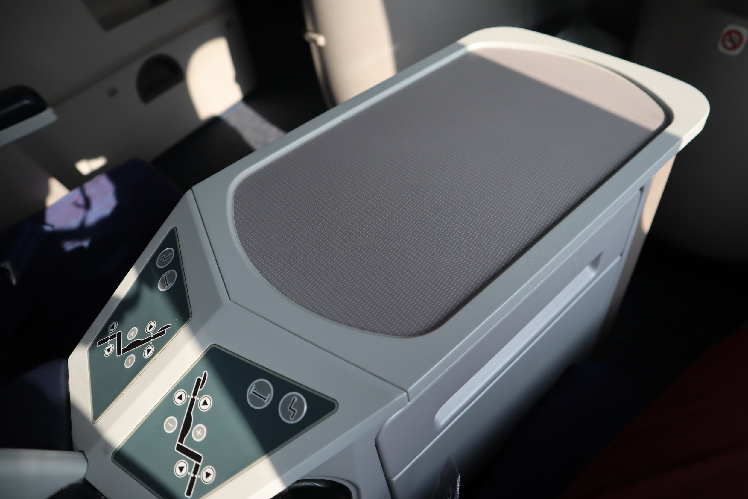 Air China business class – Seat console