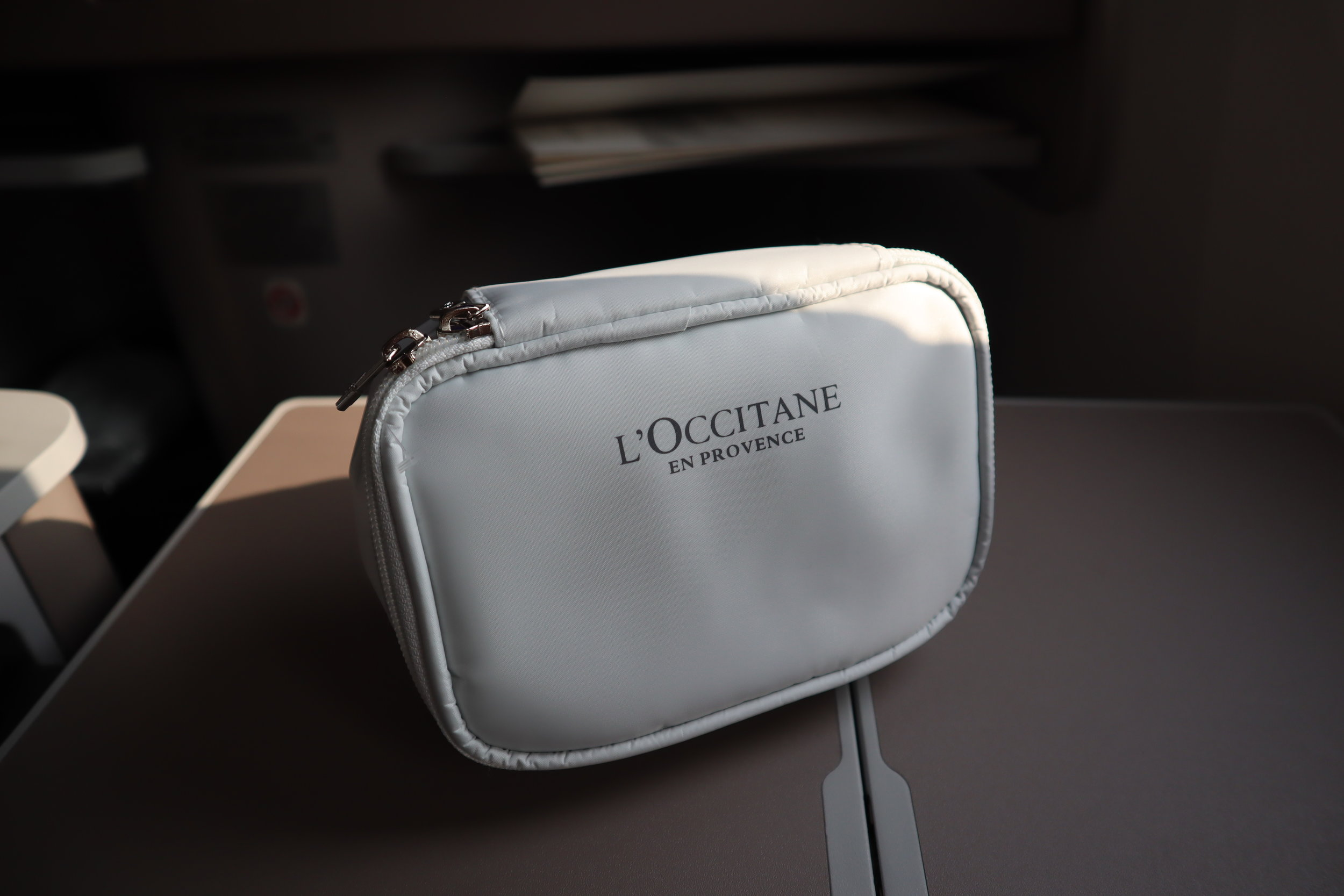 Air China business class – L'Occitane amenity kit