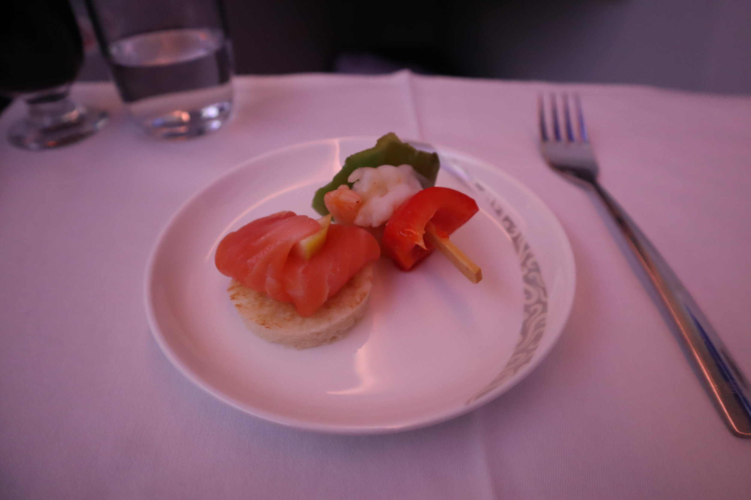 Air China business class – Amuse bouche