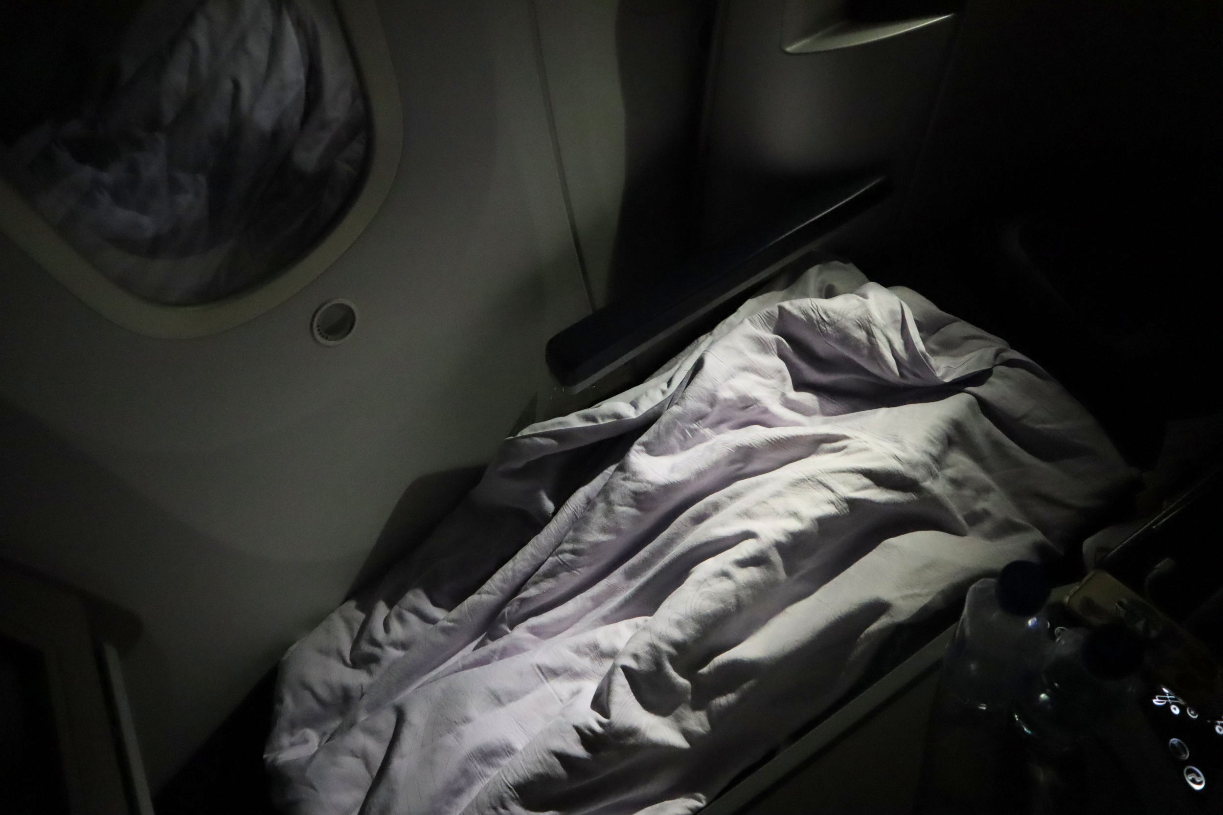 Air China business class – Bed