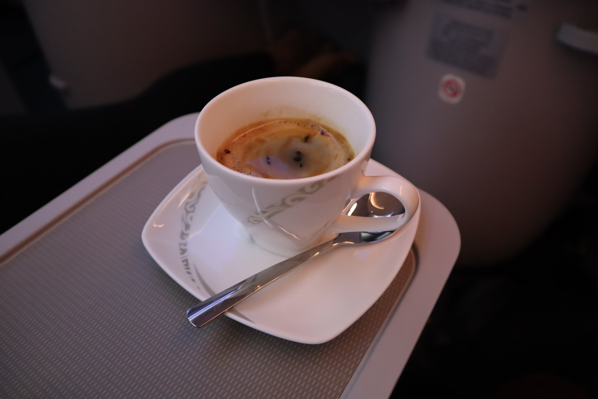 Air China business class – Coffee