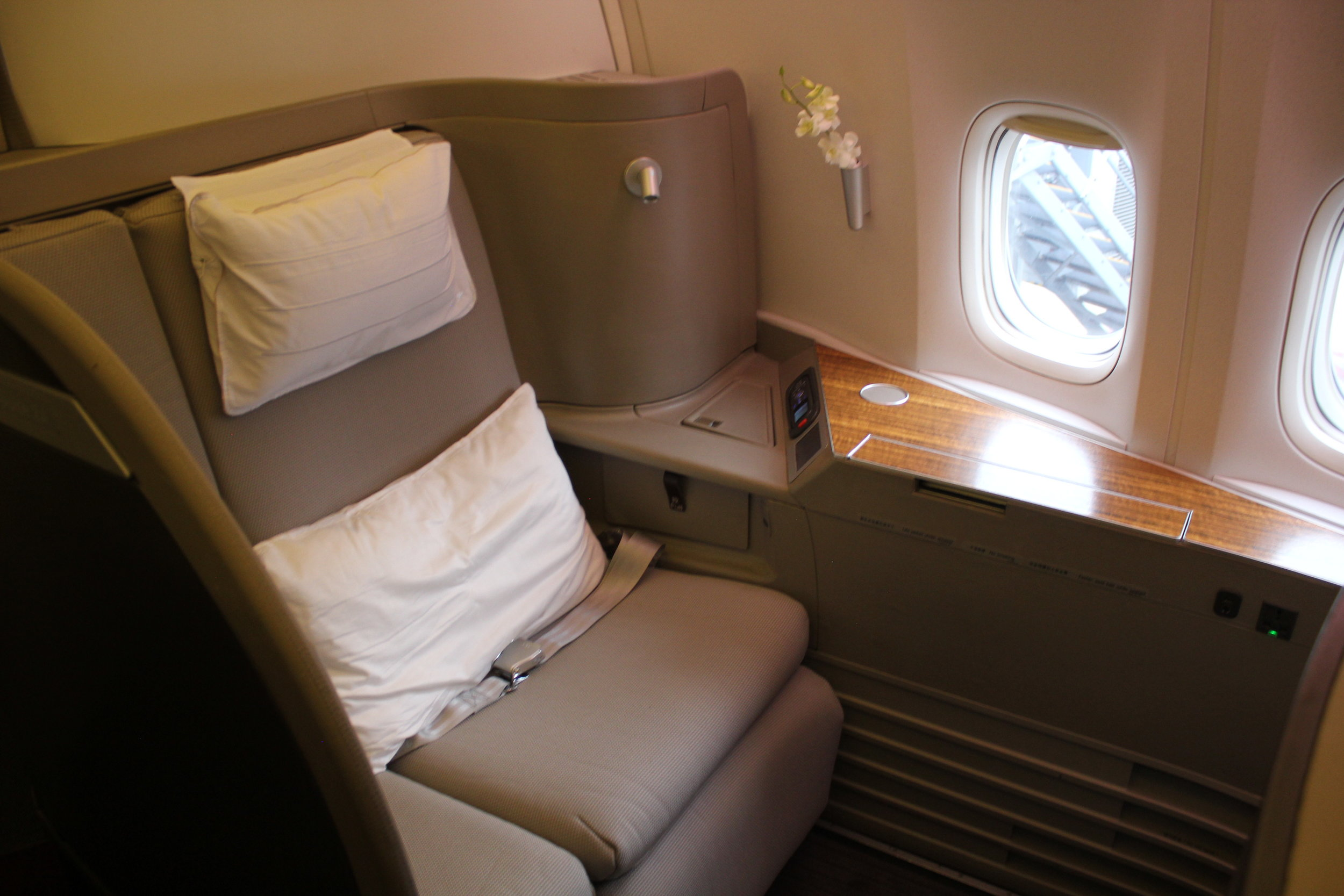 Fly Cathay Pacific First Class for 70,000 Alaska miles