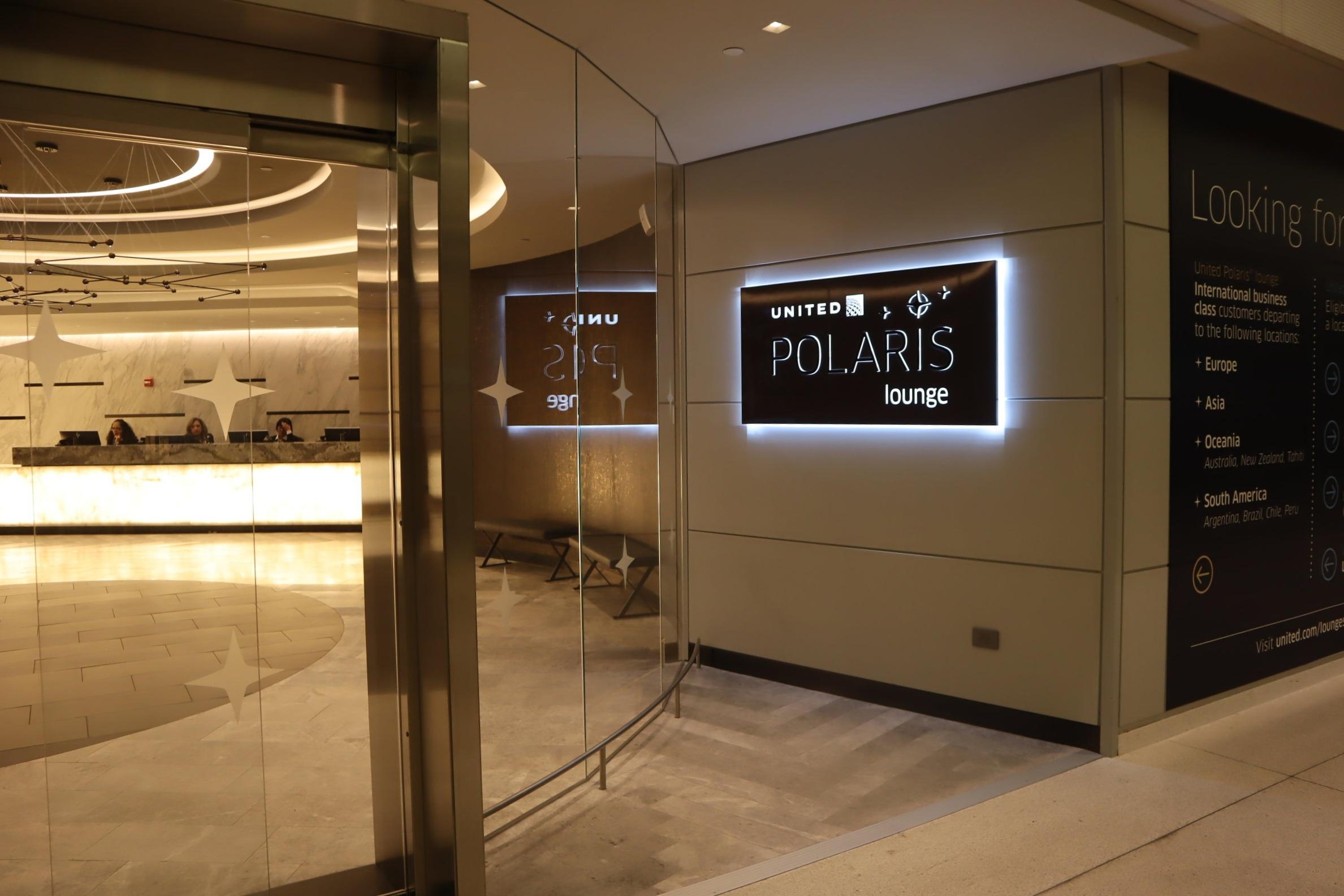 United Polaris Lounge Newark – Entrance