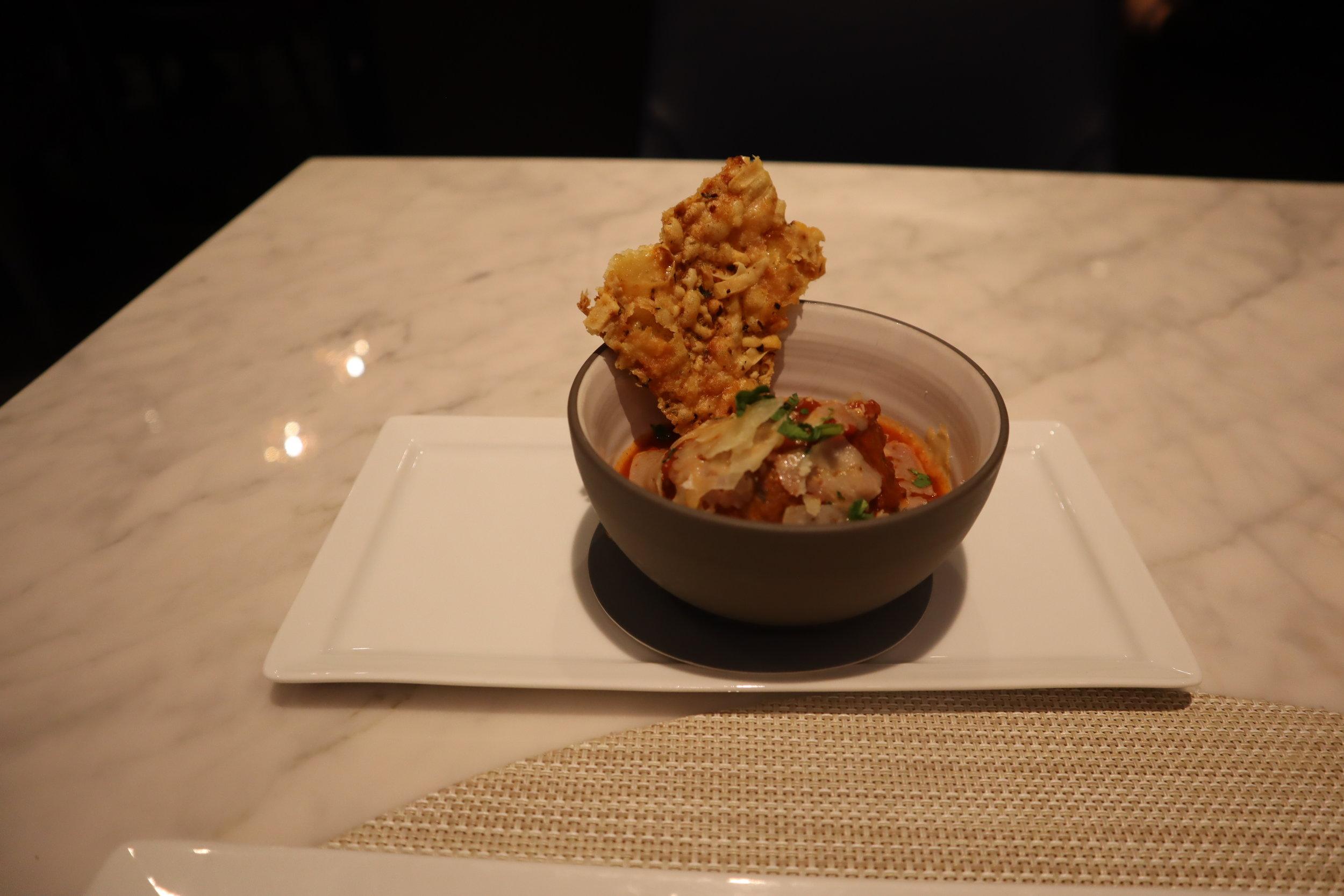 United Polaris Lounge Newark – Slow-cooked meatballs