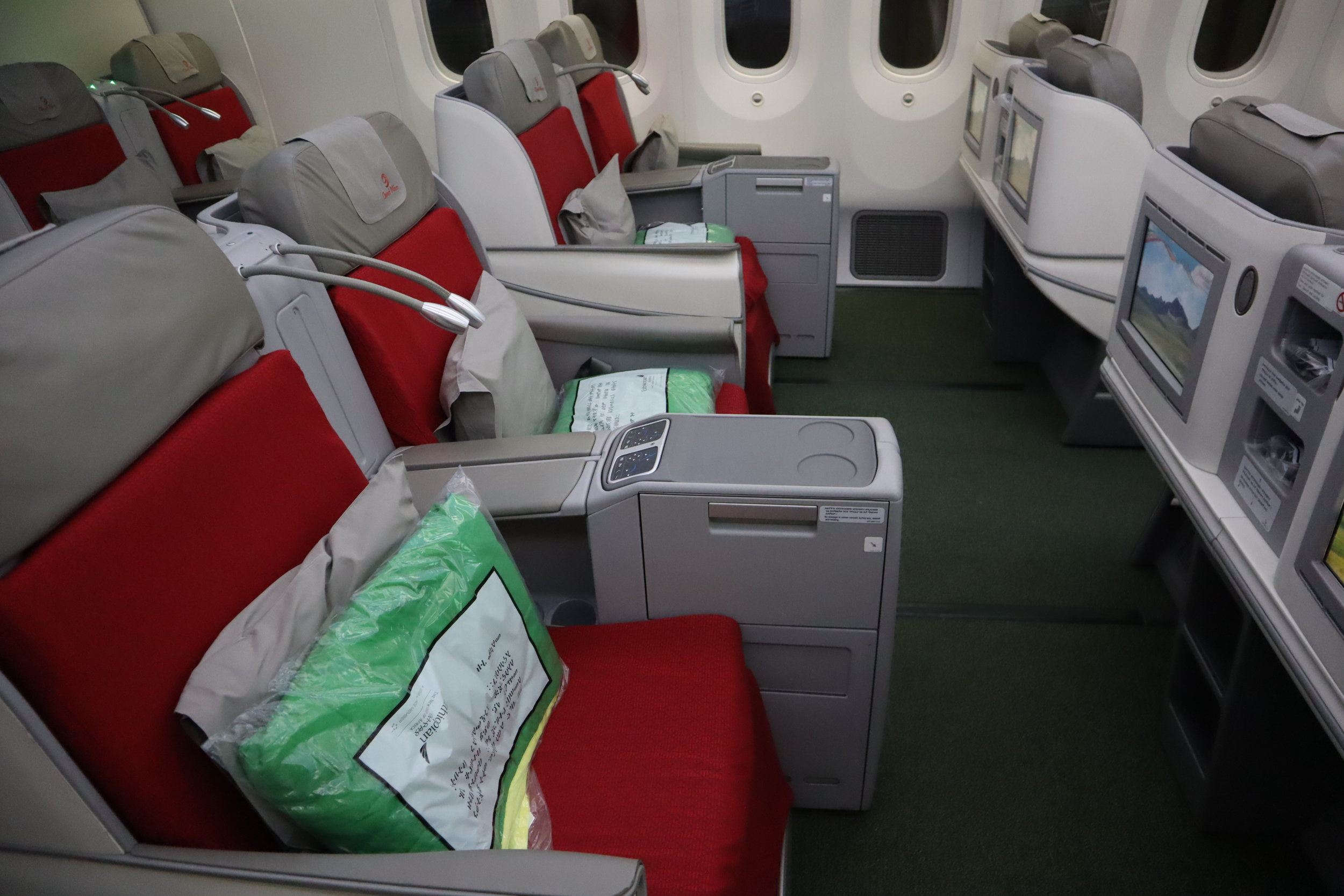 Ethiopian Airlines business class – Seats