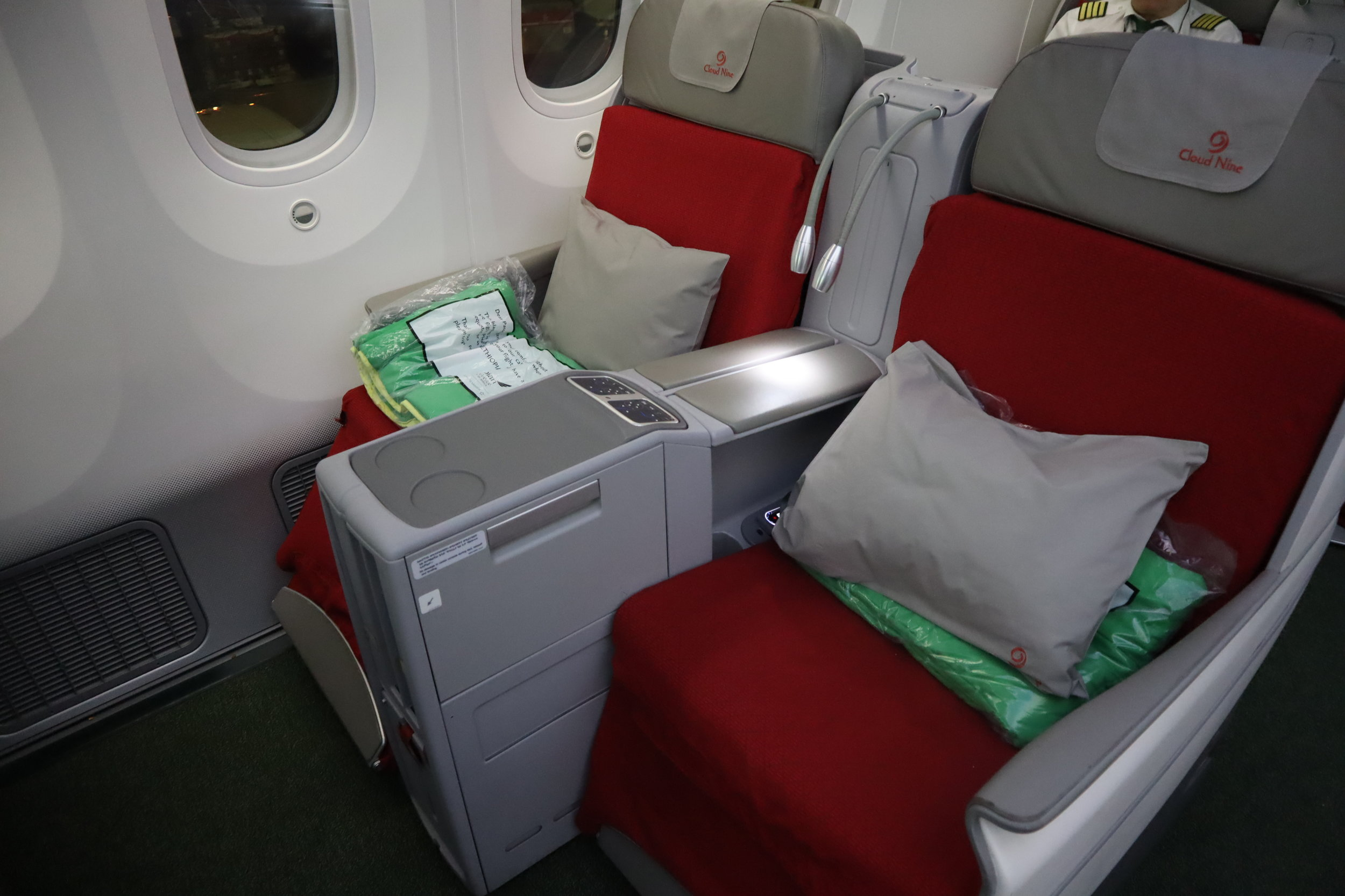 Ethiopian Airlines business class – Seat 3L