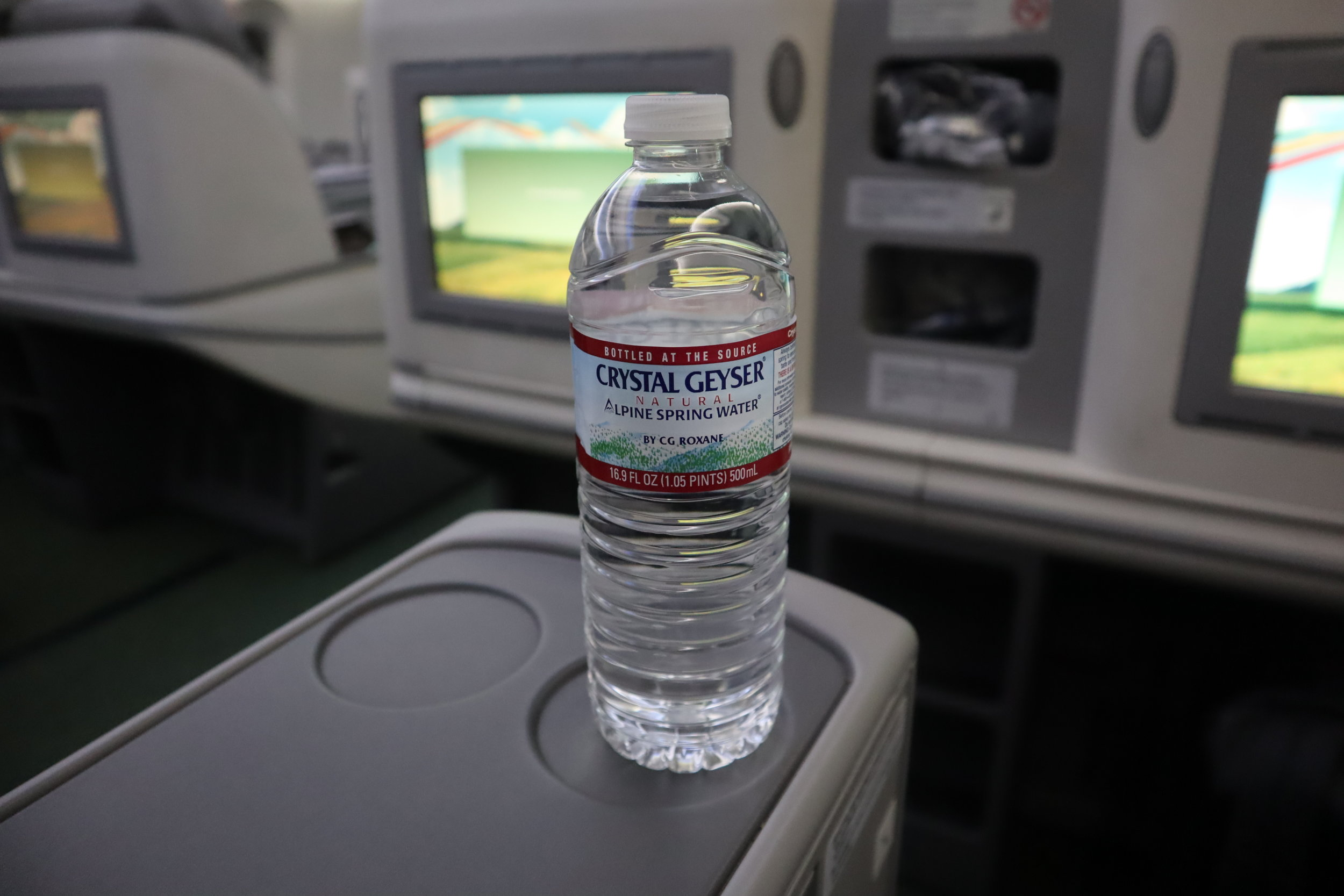 Ethiopian Airlines business class – Bottled water