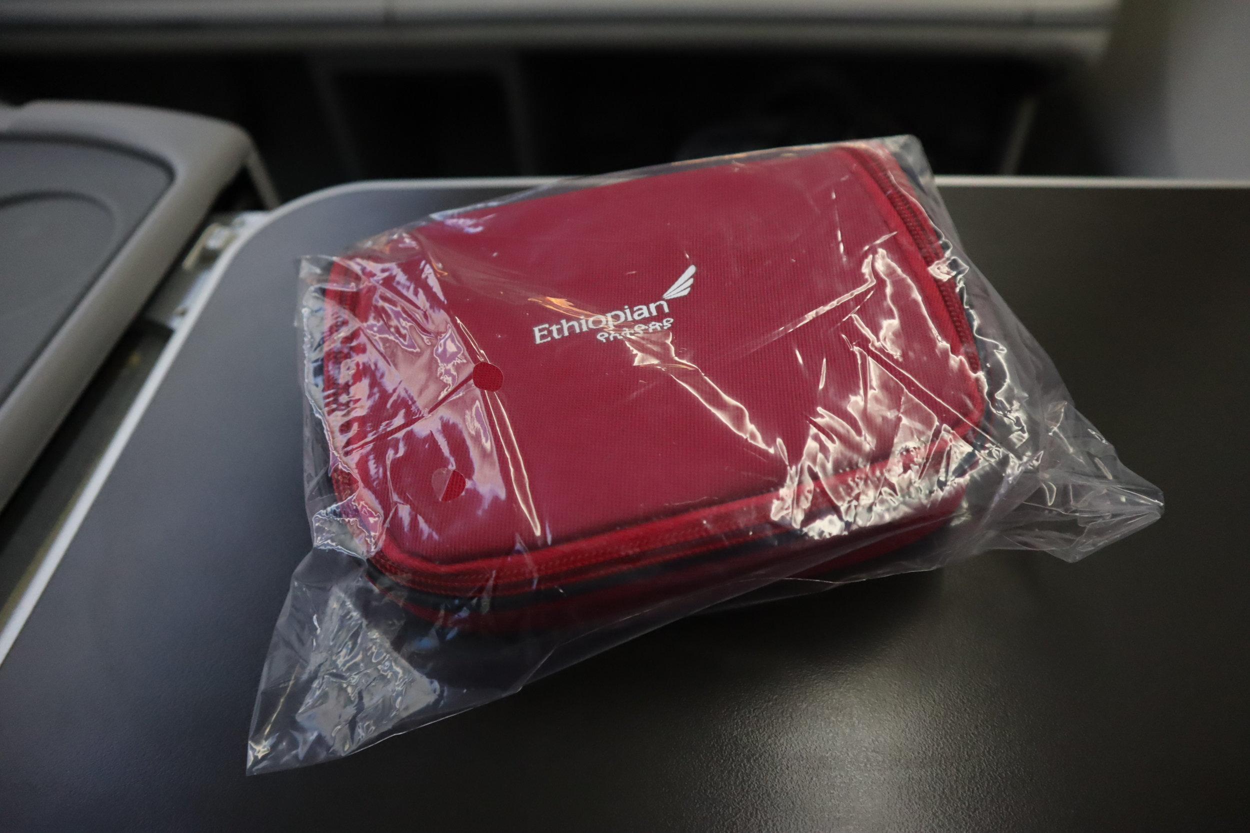 Ethiopian Airlines business class – Amenity kit
