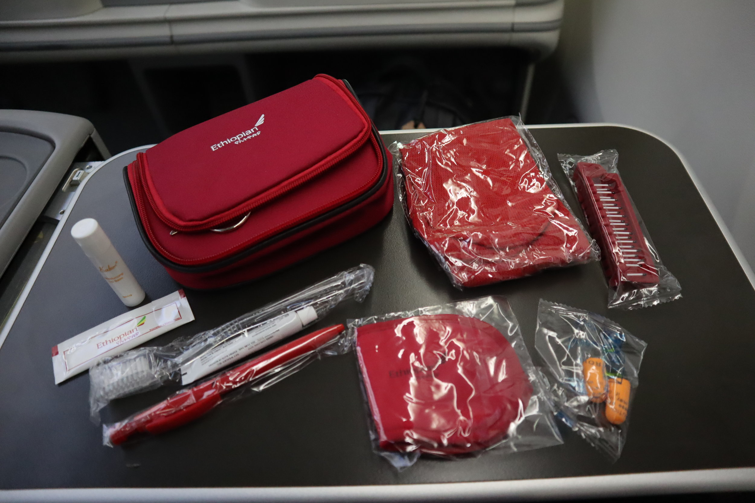 Ethiopian Airlines business class – Amenity kit contents