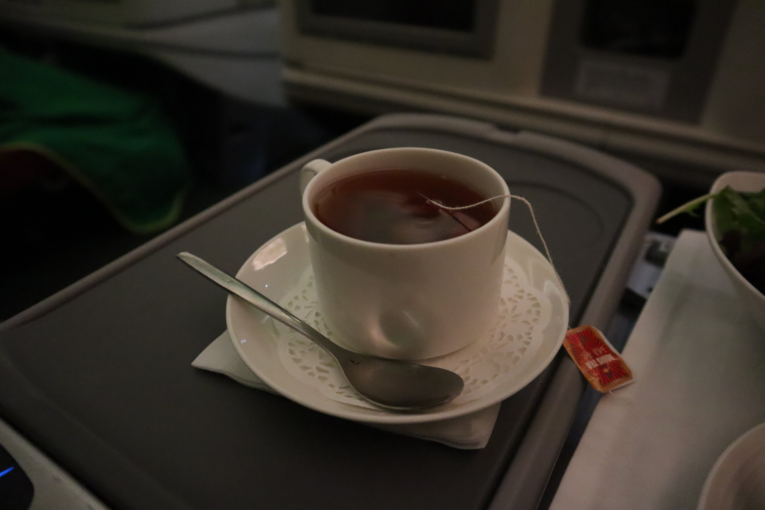 Ethiopian Airlines business class – Black tea