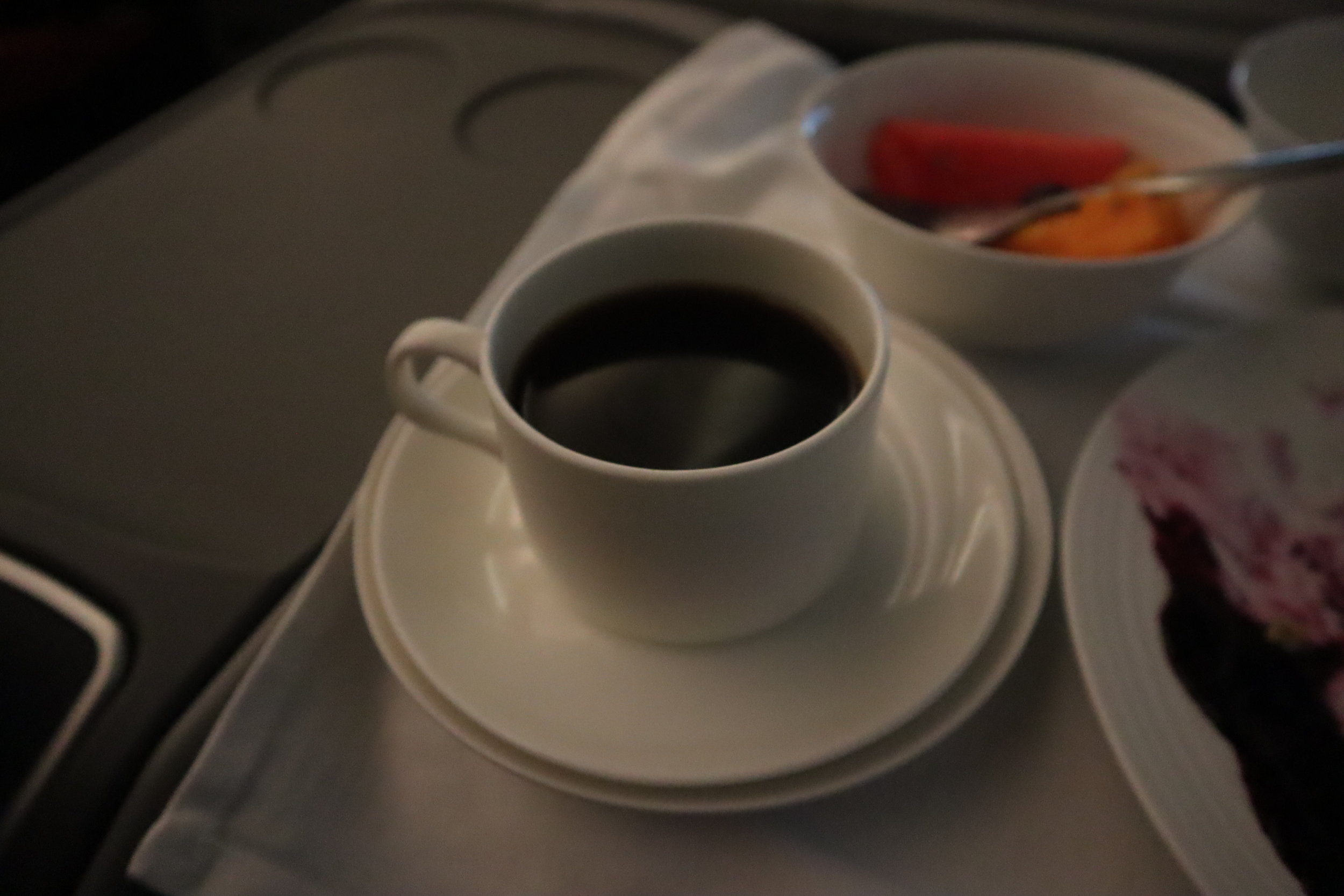 Ethiopian Airlines business class – Coffee