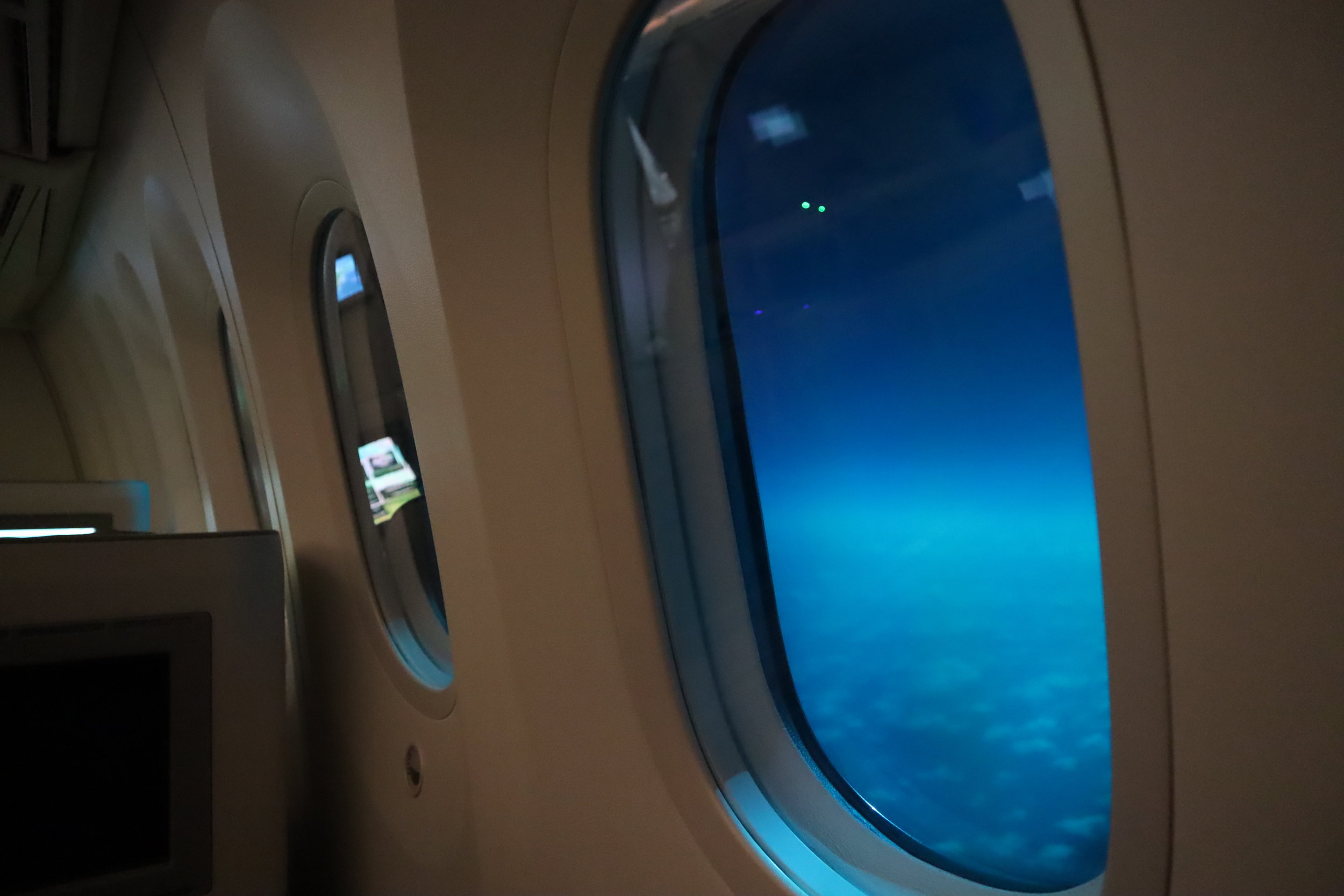 Ethiopian Airlines business class – Electronic windows