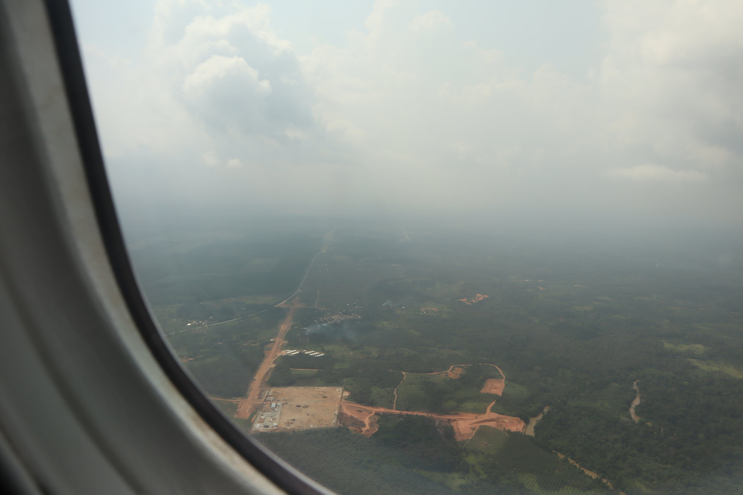 Ethiopian Airlines business class – Views on approach to Abidjan