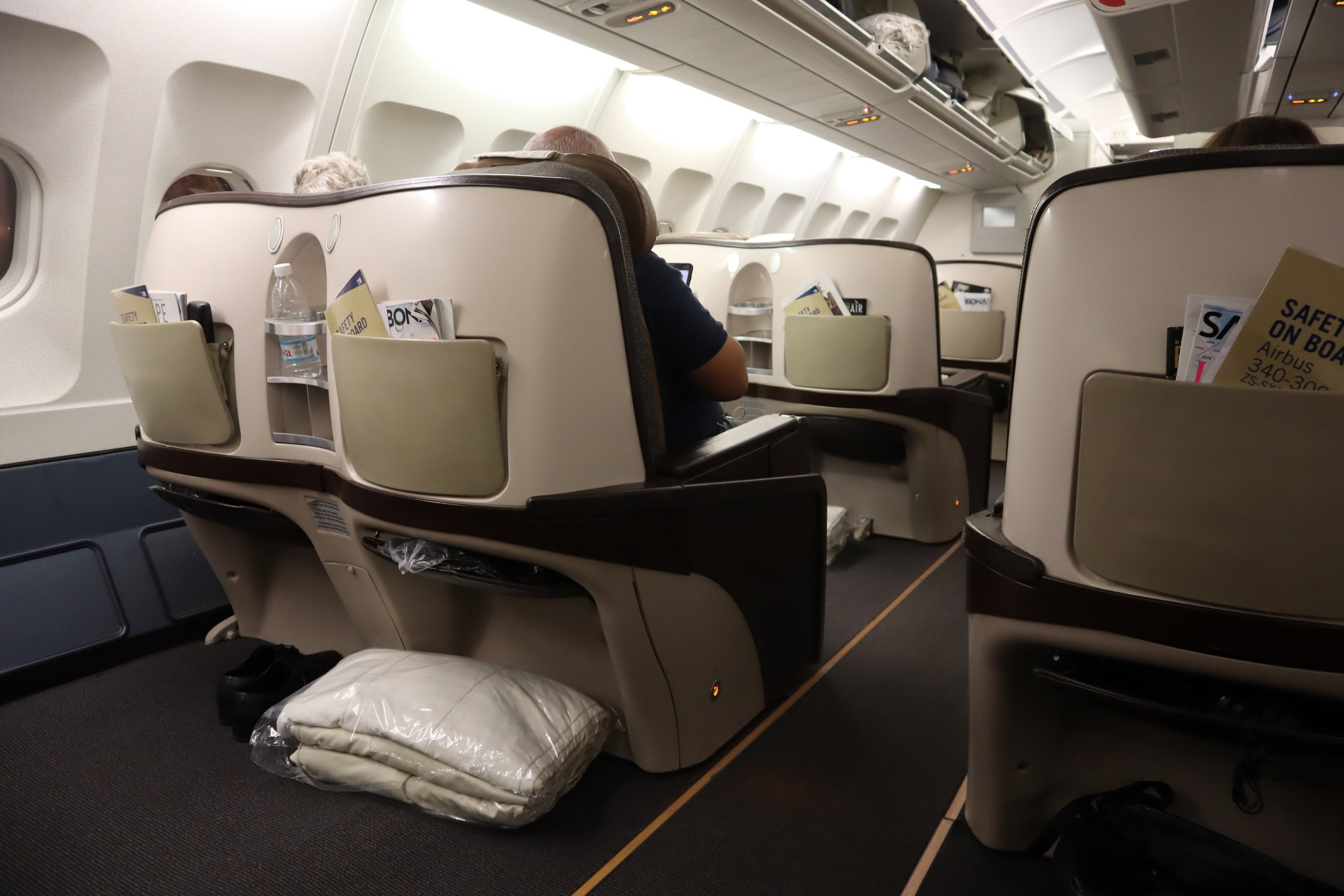 South African Airways business class – Cabin