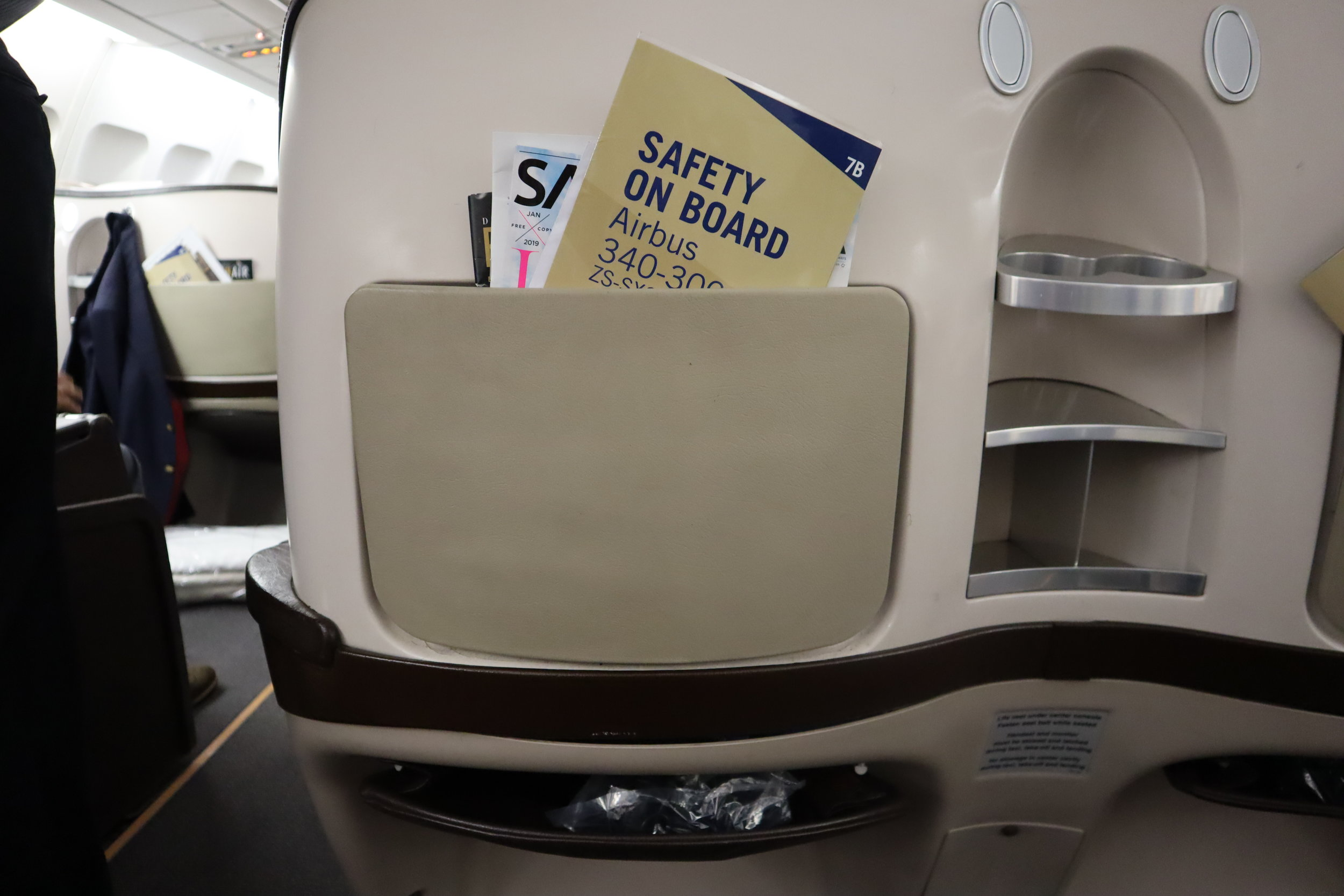 South African Airways business class – Literature pouch
