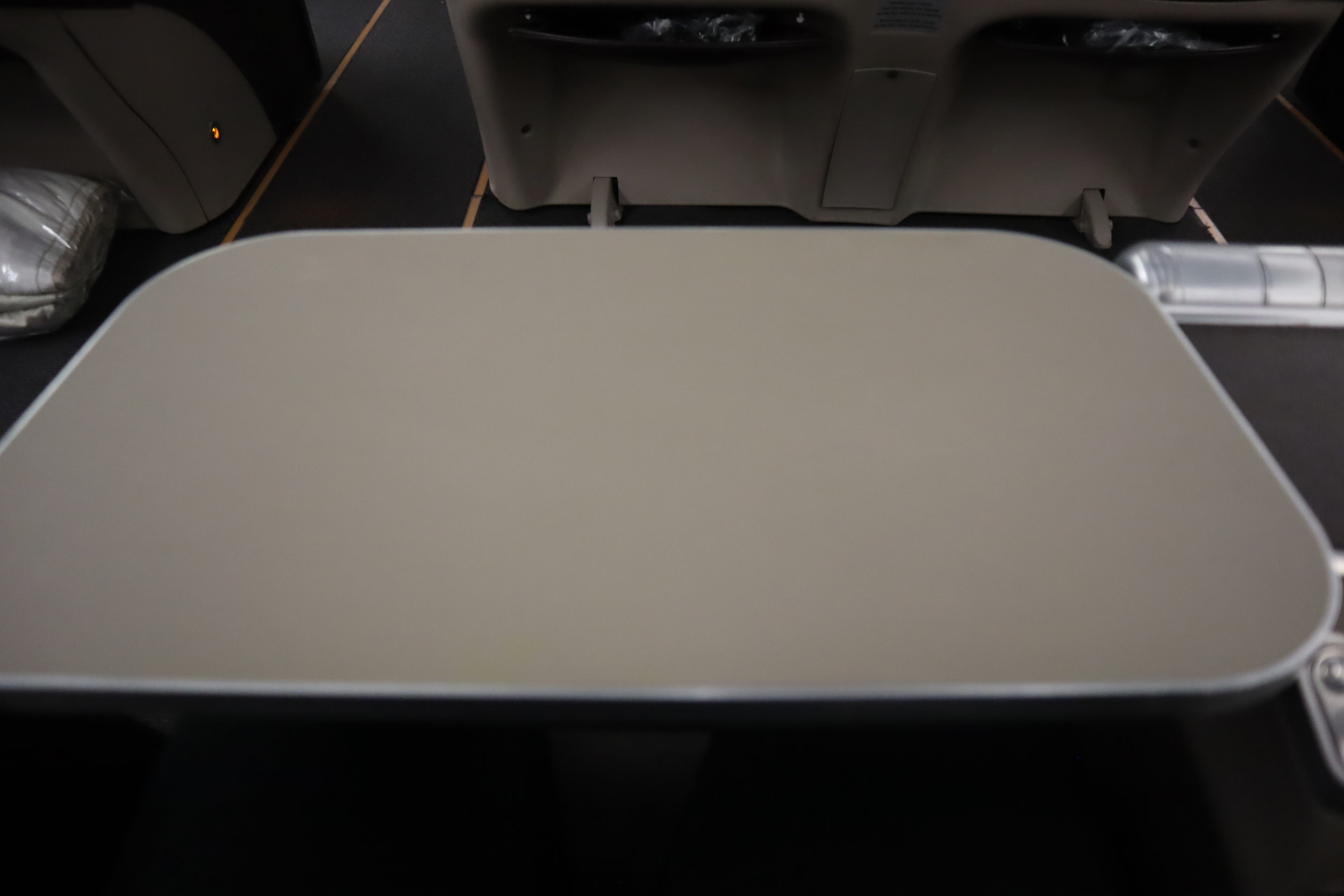 South African Airways business class – Tray table