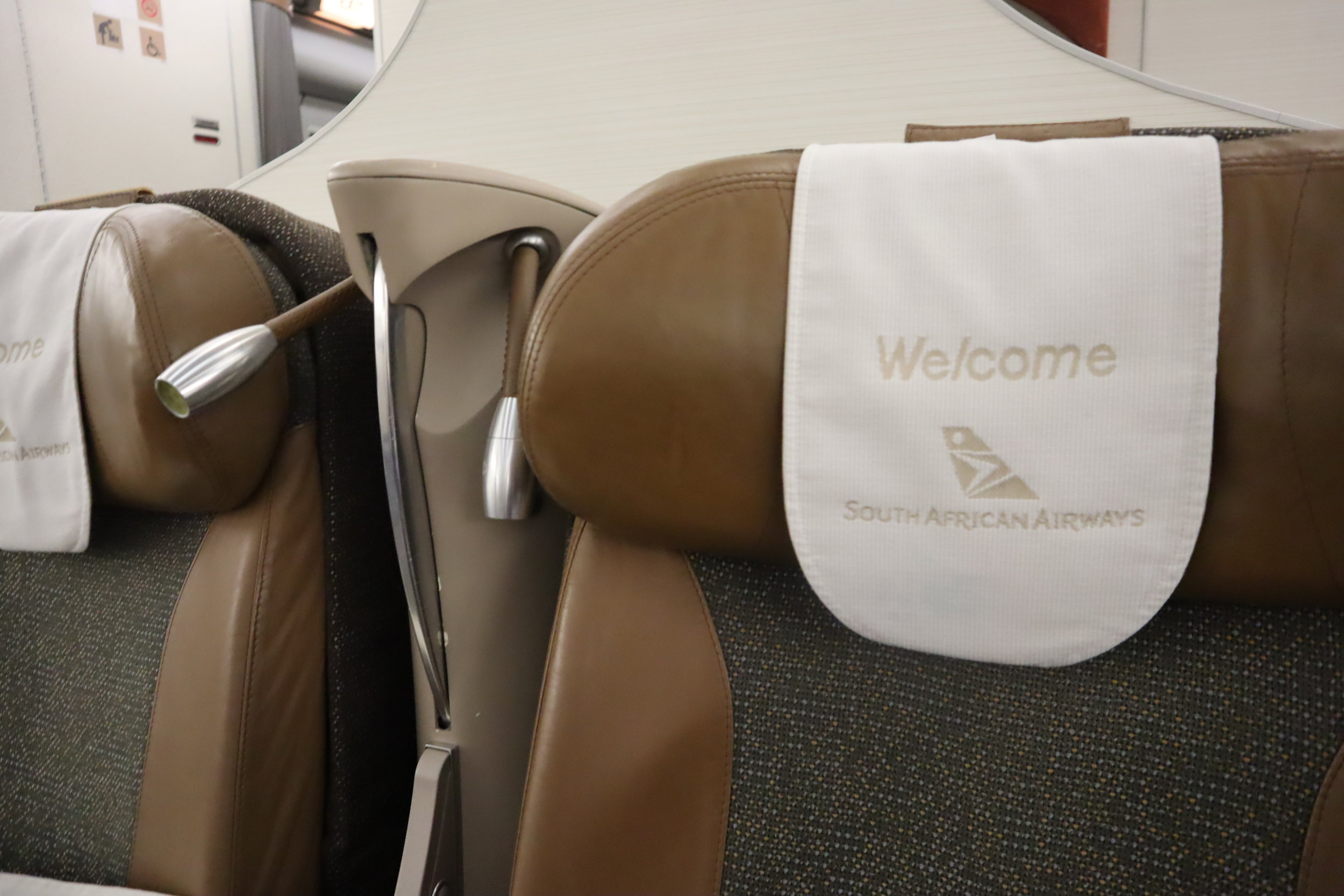 South African Airways business class – Reading lights