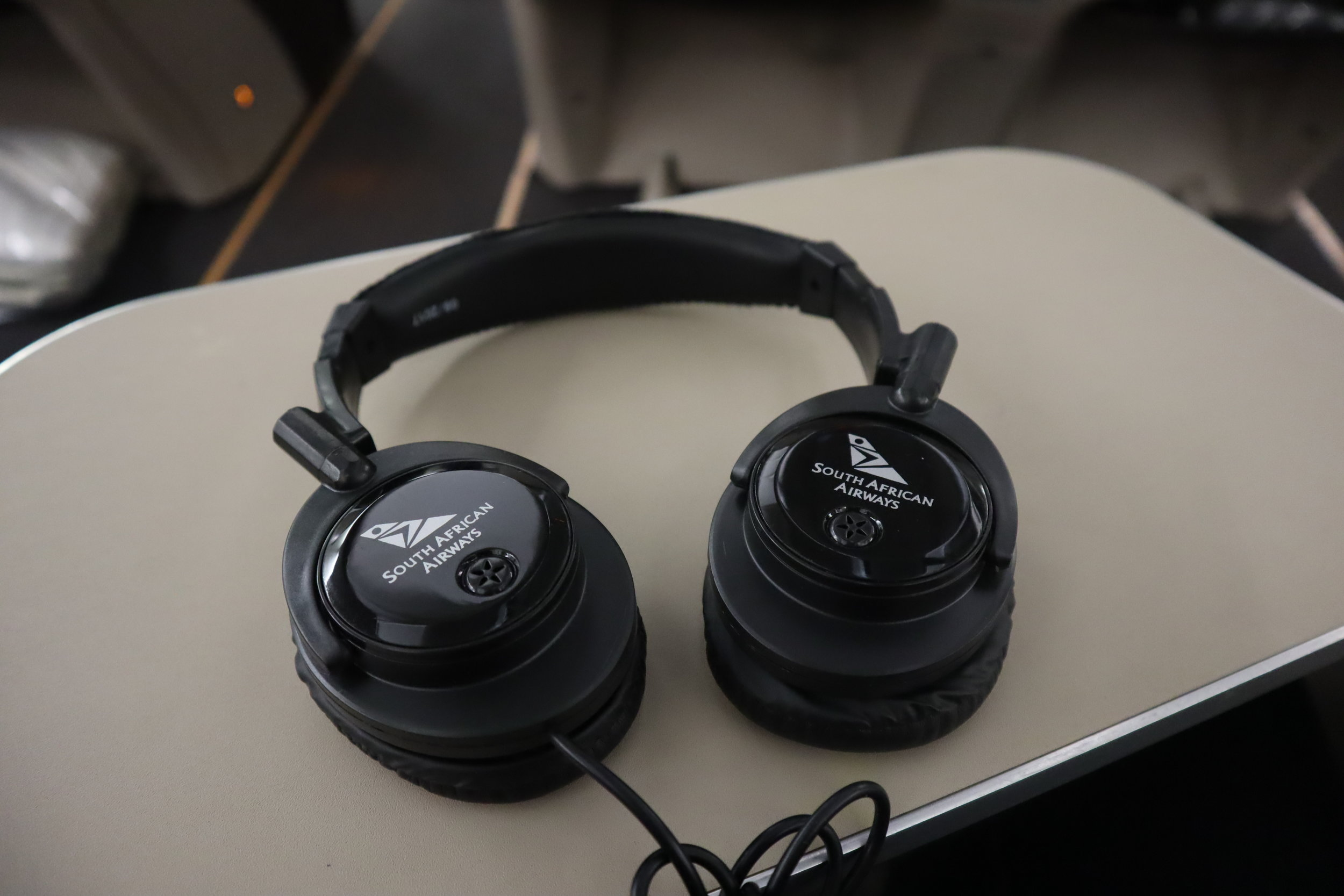 South African Airways business class – Headphones