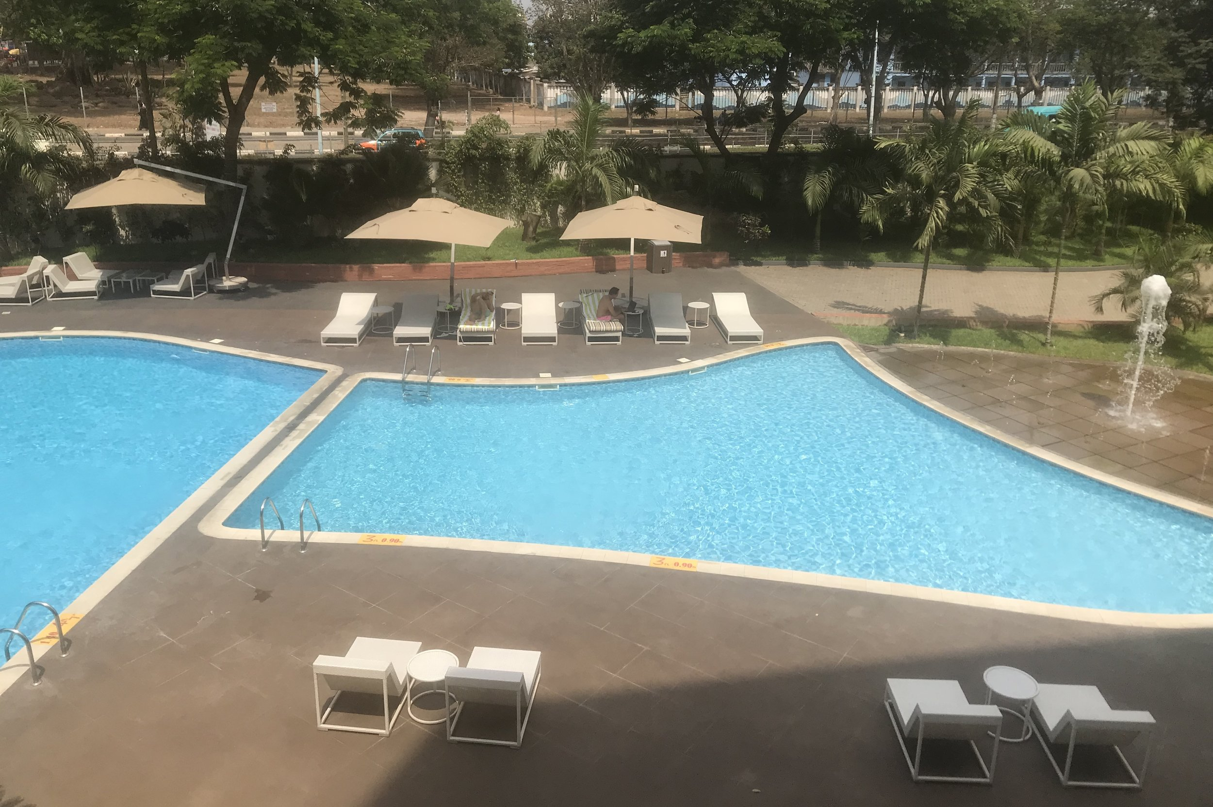 Marriott Accra – Executive Lounge view of pool area