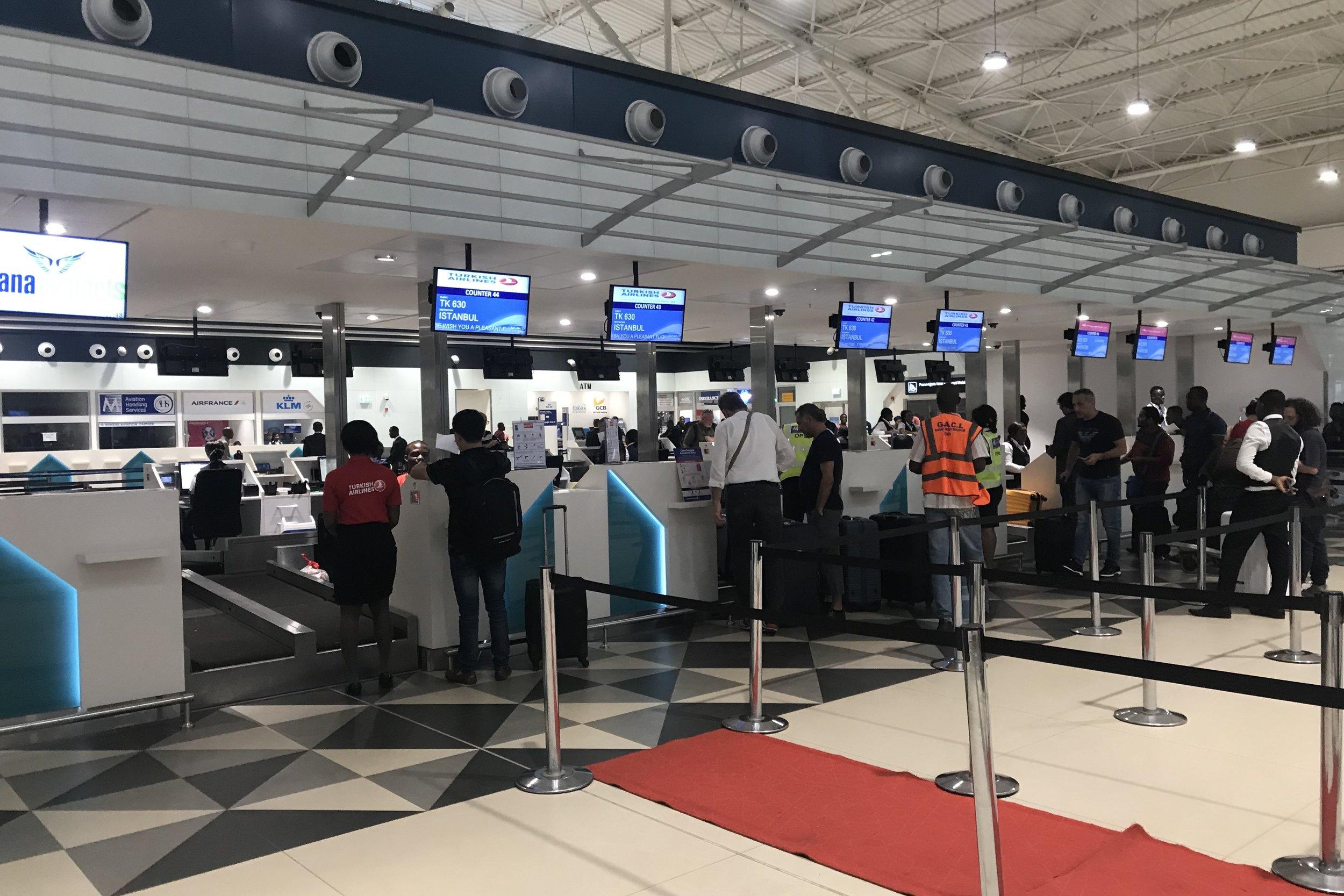 Kotoka International Airport – Turkish Airlines check-in