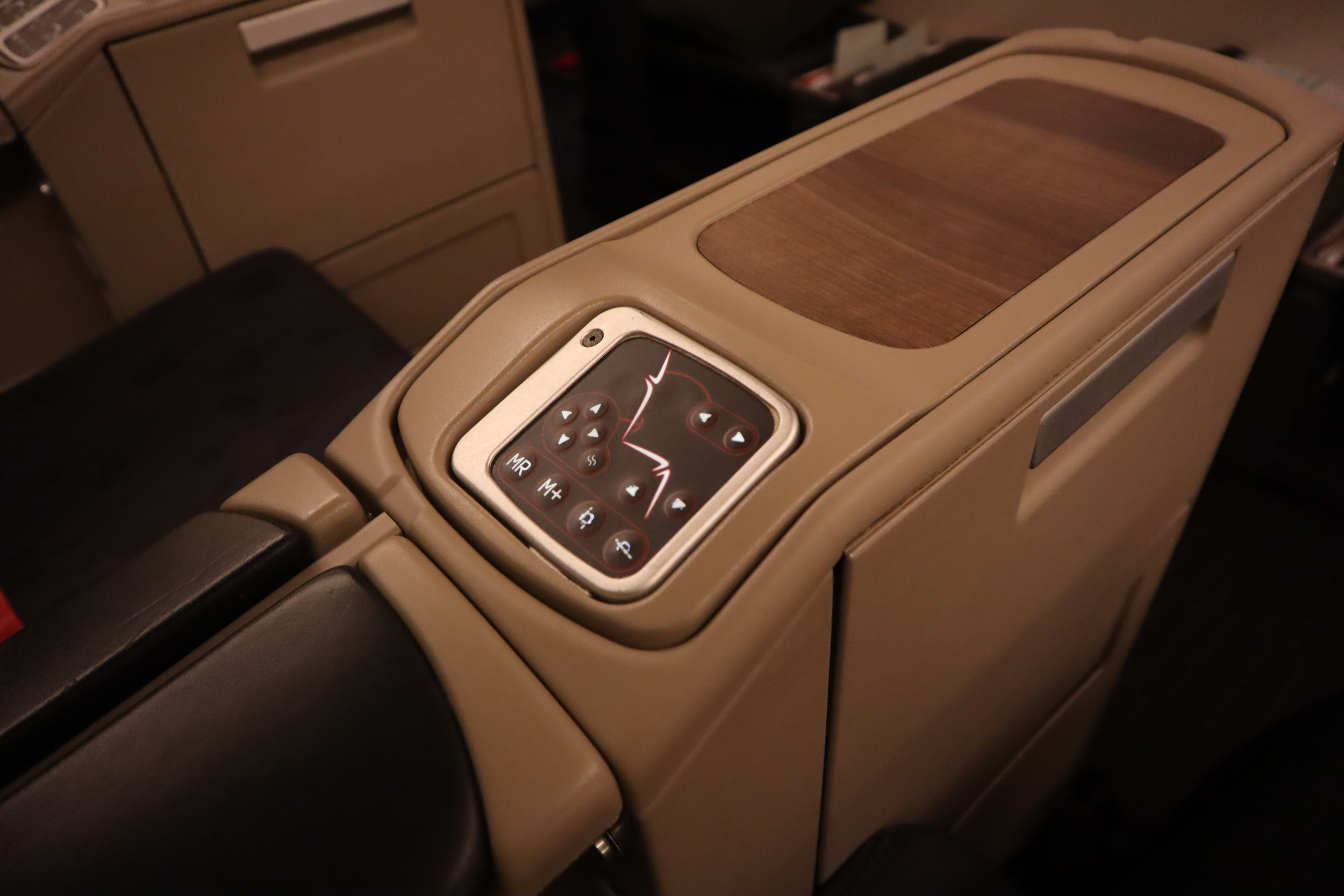 Turkish Airlines 777 business class – Seat console