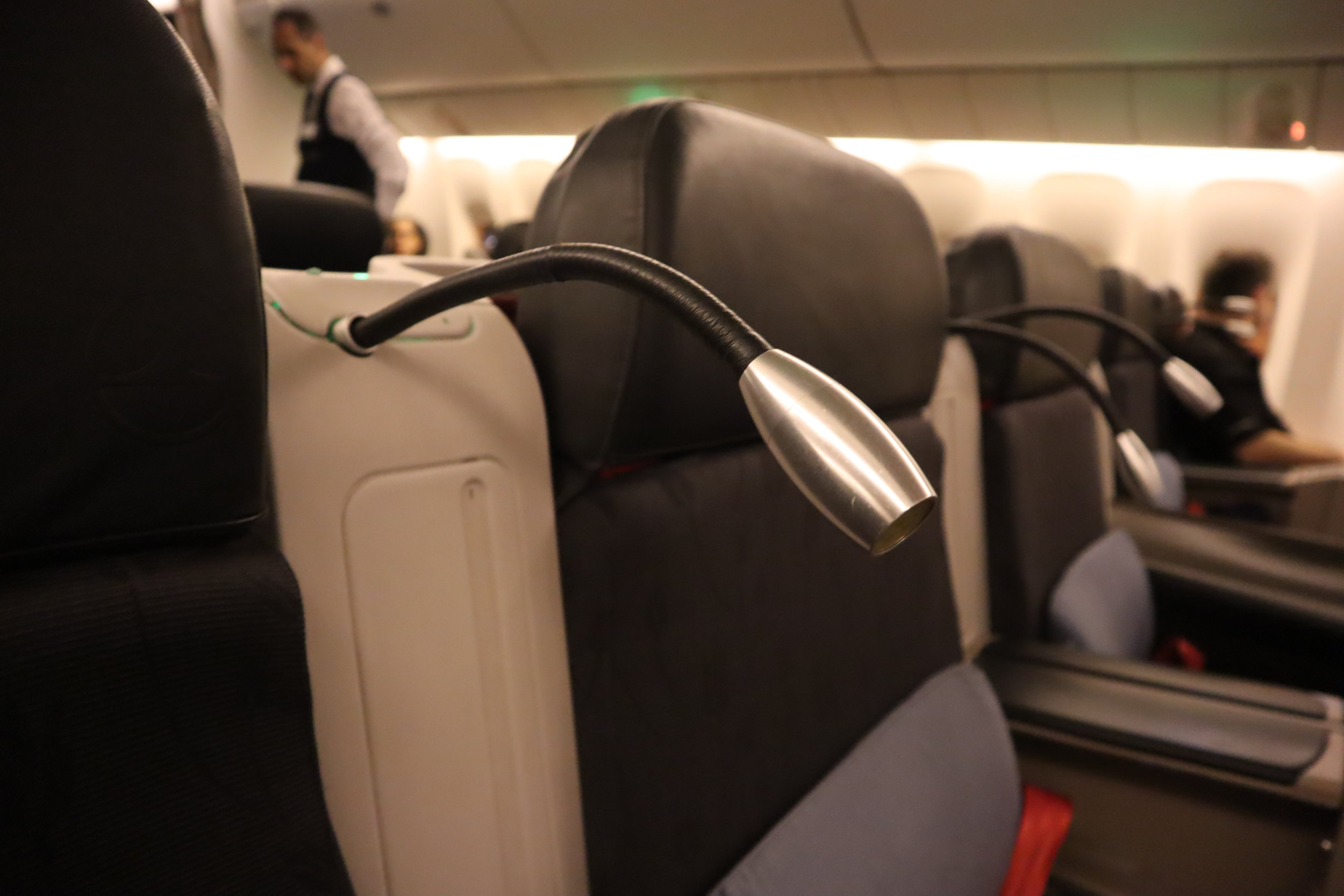 Turkish Airlines 777 business class – Reading light