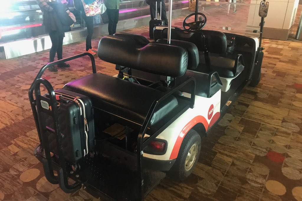 Singapore Changi Airport buggy service