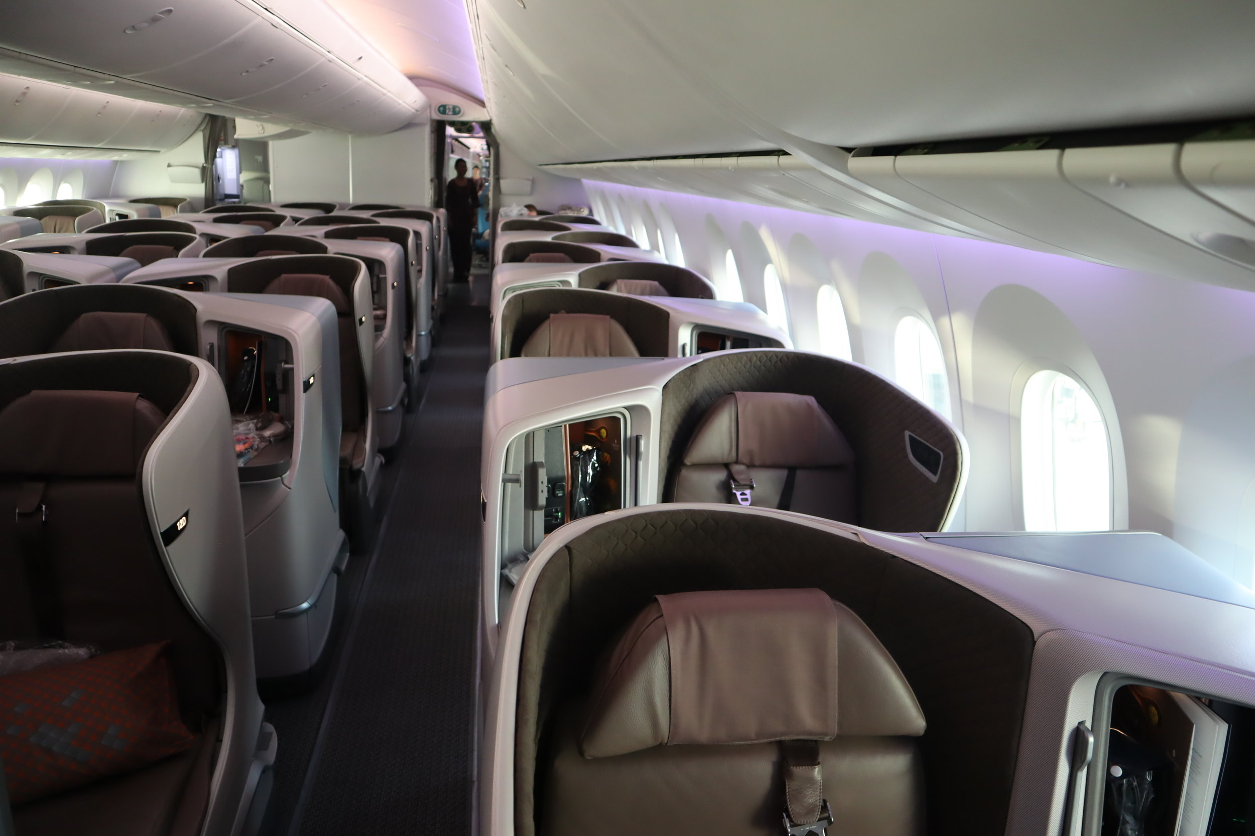 Singapore Airlines 787-10 business class – Cabin