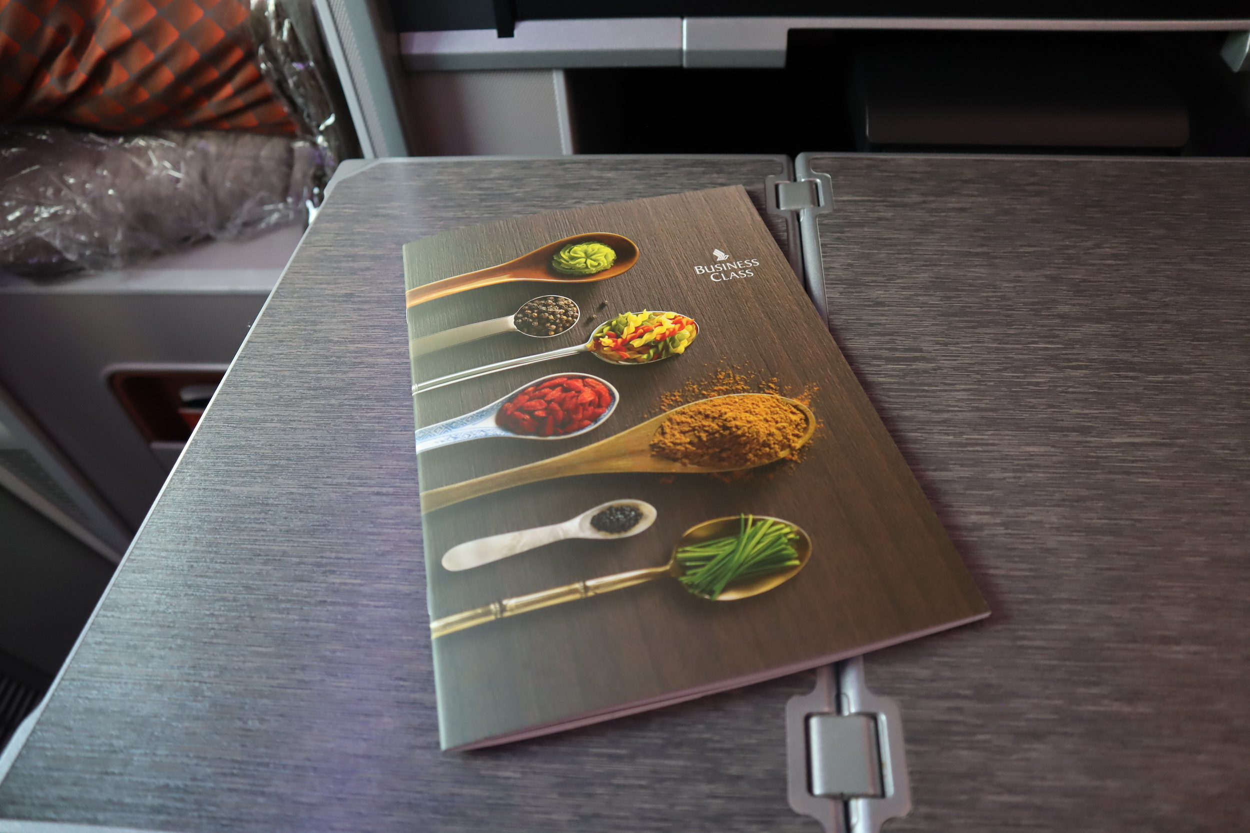 Singapore Airlines 787-10 business class – Menu