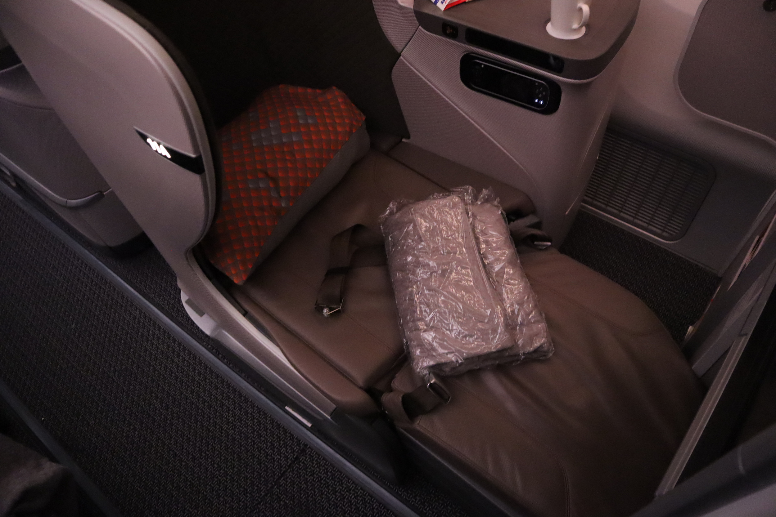 Singapore Airlines 787-10 business class – Bed